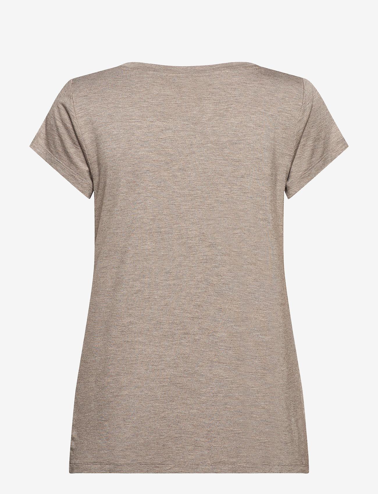Rosemunde - T-shirt ss - t-shirts - brown melange - 1
