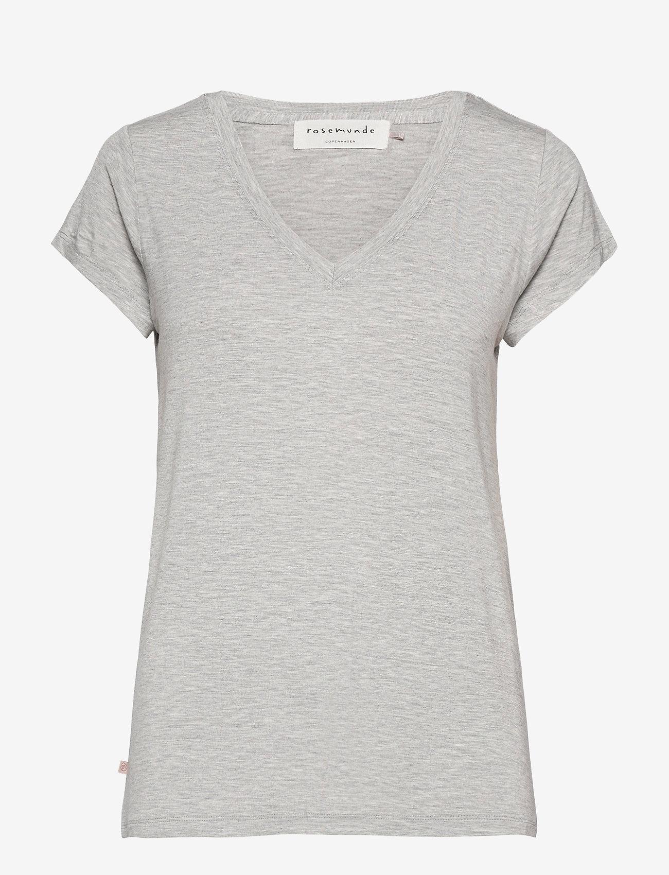 Rosemunde - T-shirt ss - t-shirts - light grey melange - 0