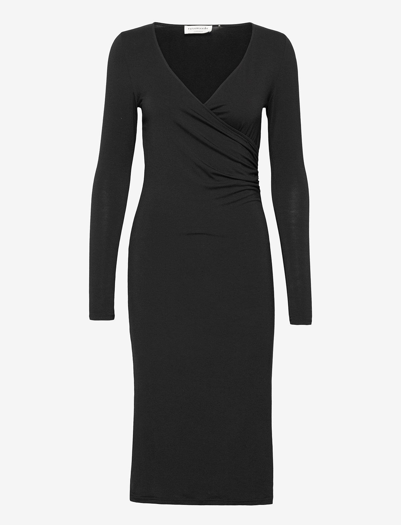 Rosemunde - Dress ls - vardagsklänningar - black - 0