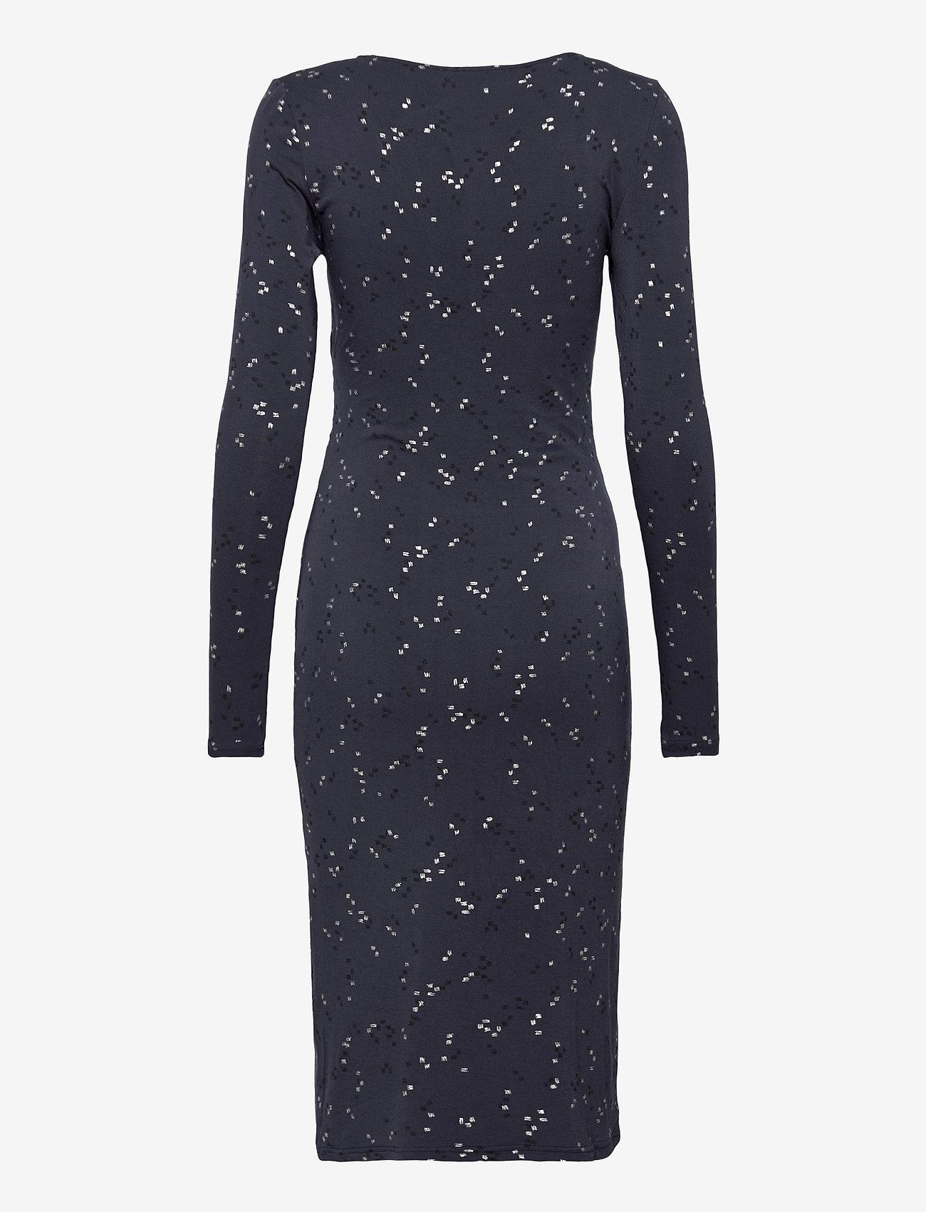 Rosemunde - Dress ls - vardagsklänningar - blue square print - 1