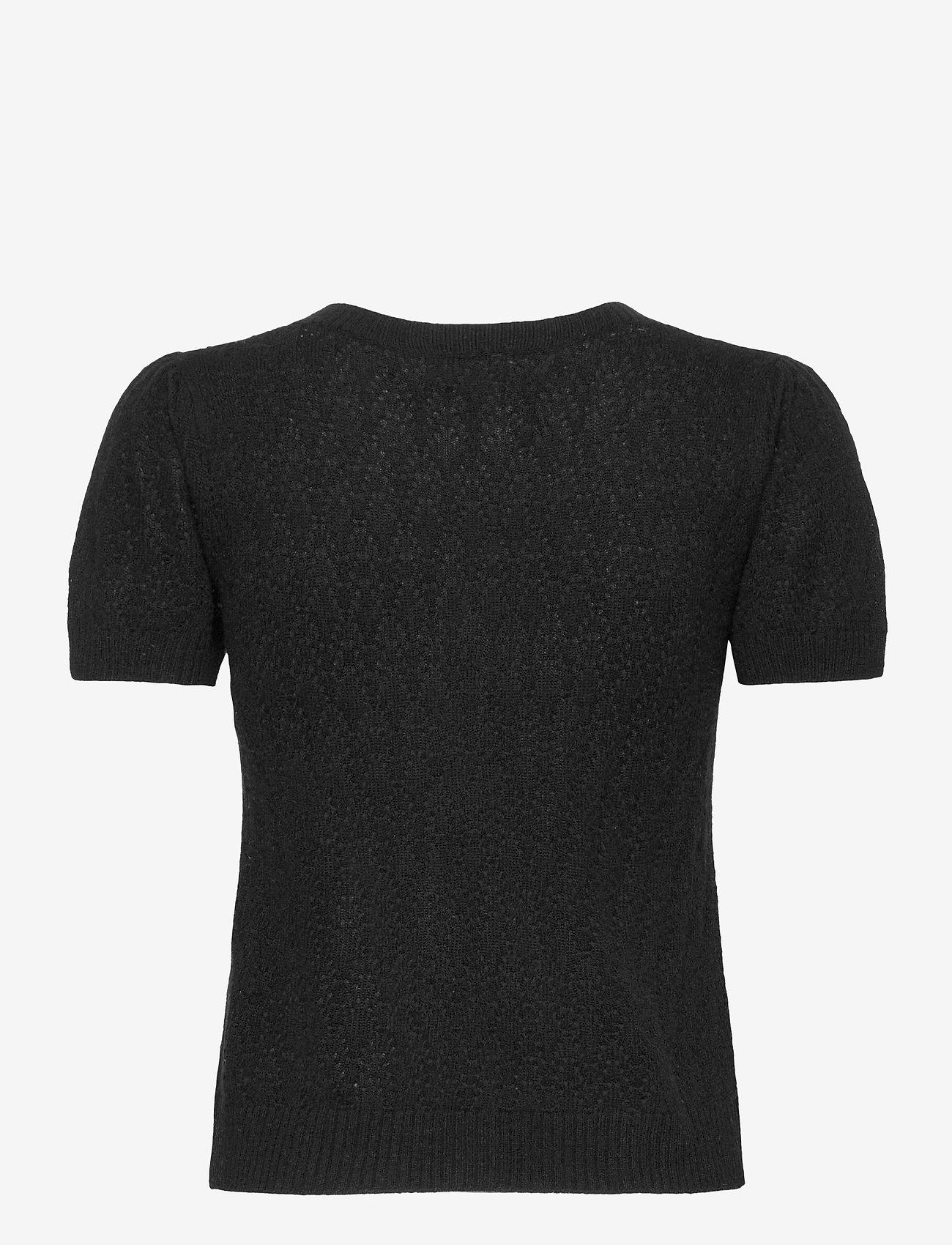 Rosemunde - Wool & cashmere cardigan ss - strikkede toppe - black - 1