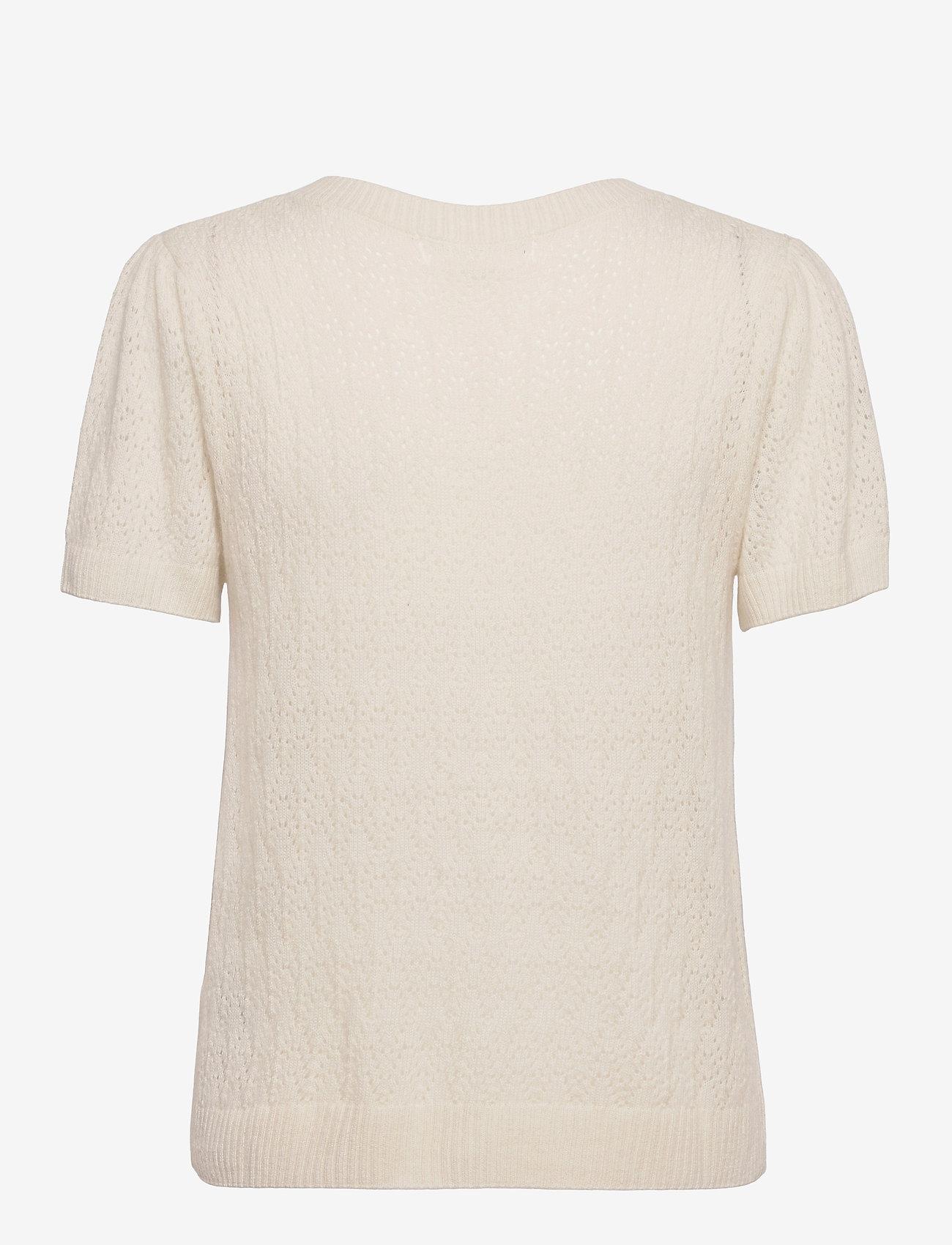 Rosemunde - Wool & cashmere cardigan ss - strikkede toppe - ivory - 1