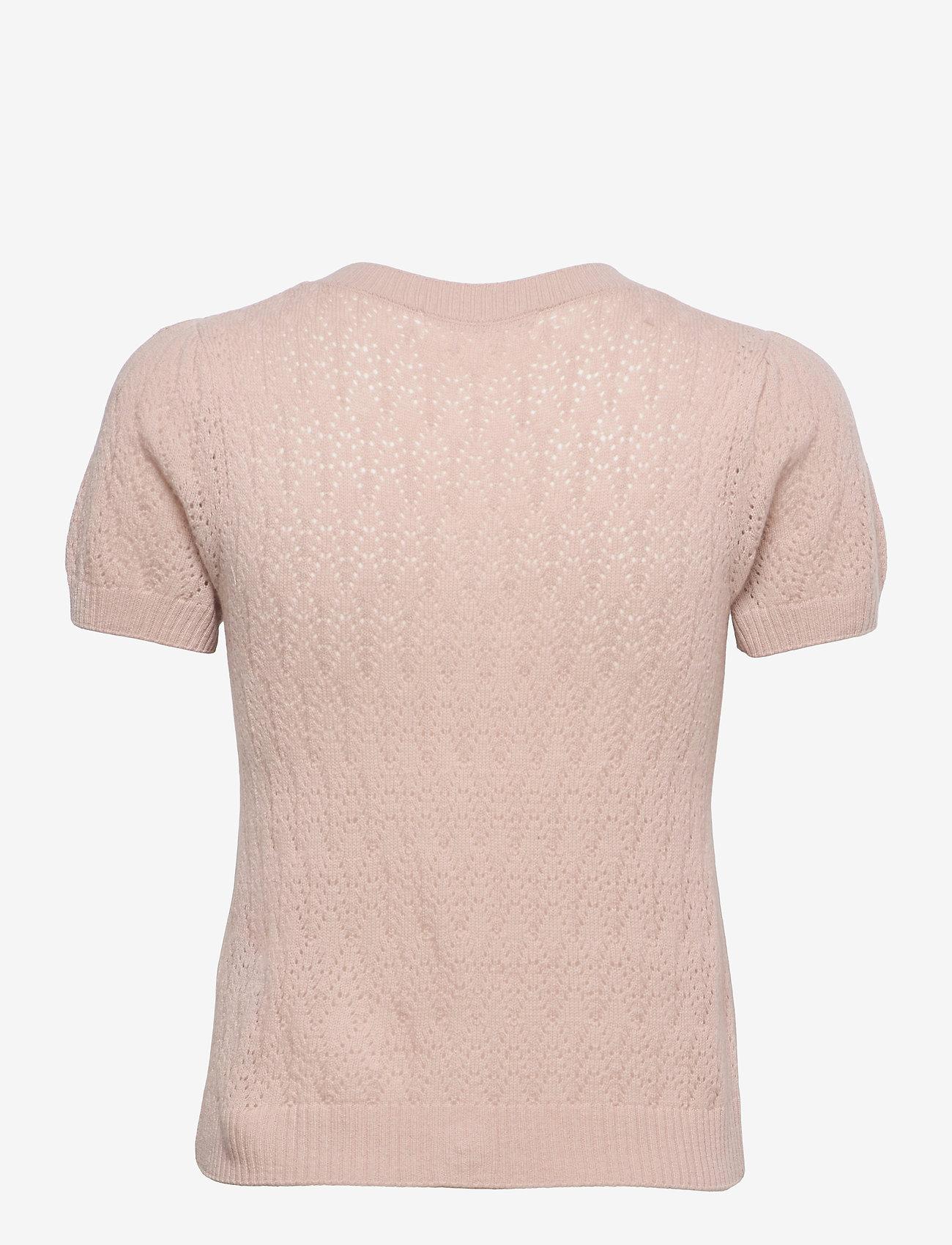 Rosemunde - Wool & cashmere cardigan ss - strikkede toppe - vintage powder - 1