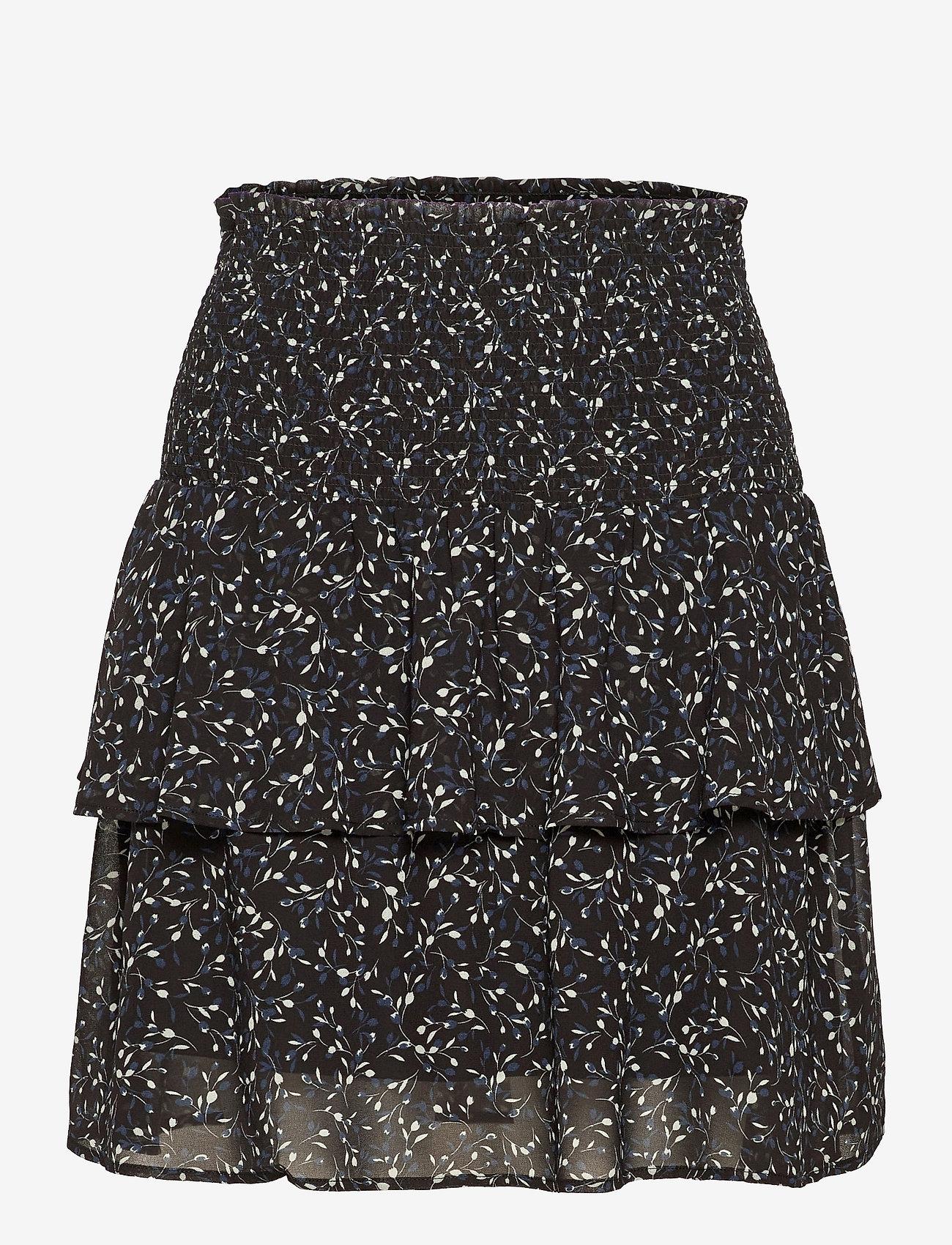 Rosemunde - Recycled polyester skirt - röcke - black tulip print - 0