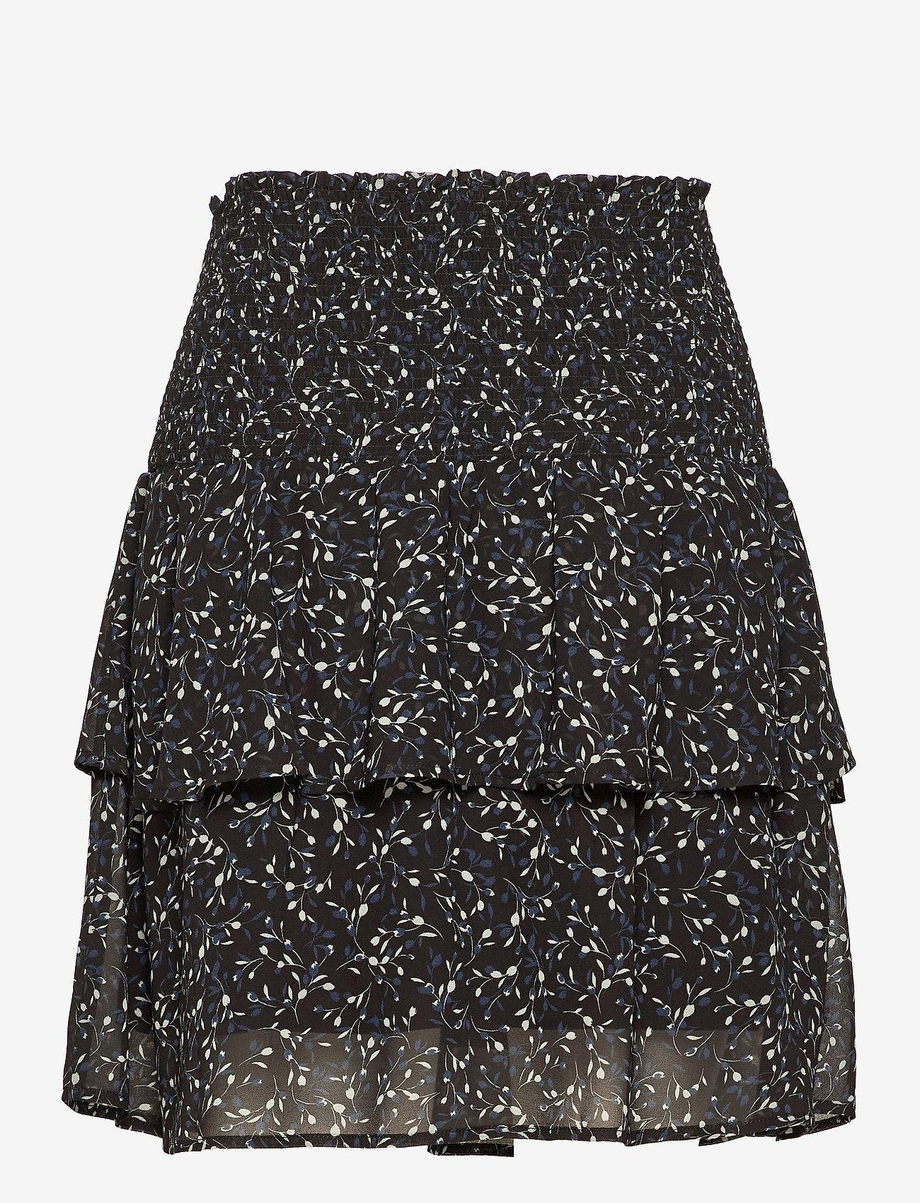Rosemunde - Recycled polyester skirt - röcke - black tulip print - 1