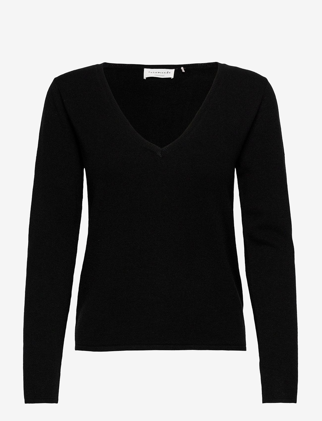 Rosemunde - Pullover ls - tröjor - black - 0