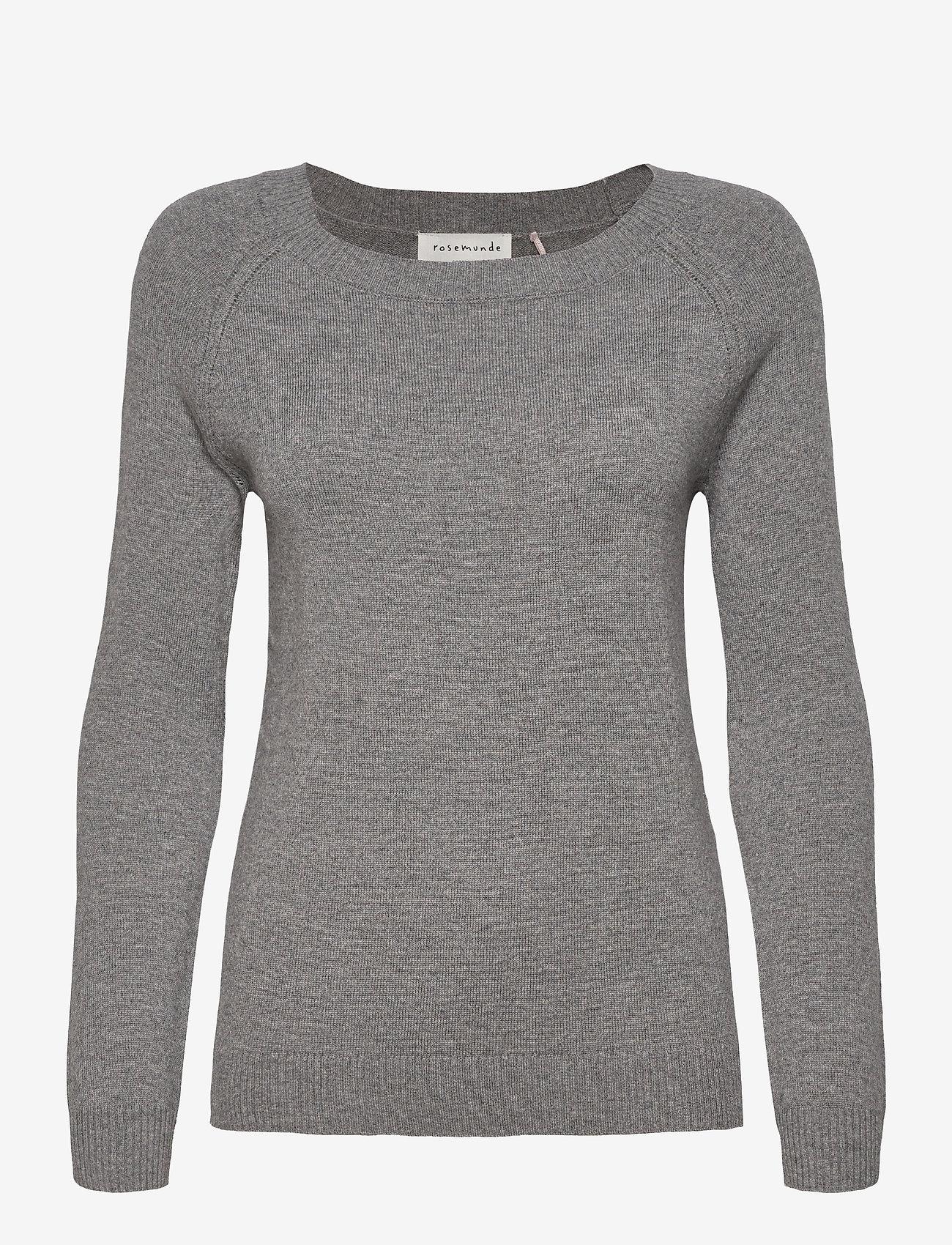 Rosemunde - Pullover ls - tröjor - medium grey melange - 0