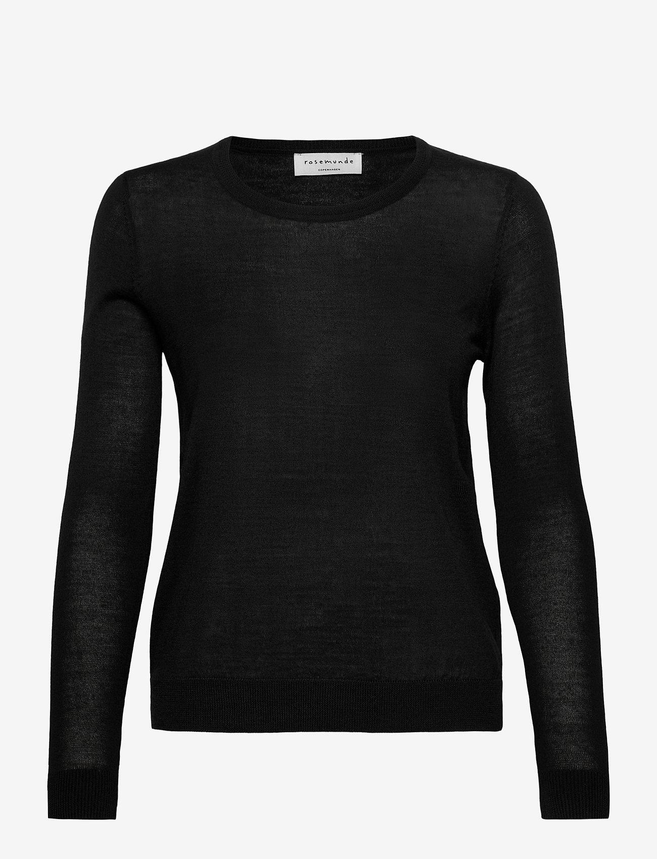 Rosemunde - Merino pullover ls - truien - black - 0