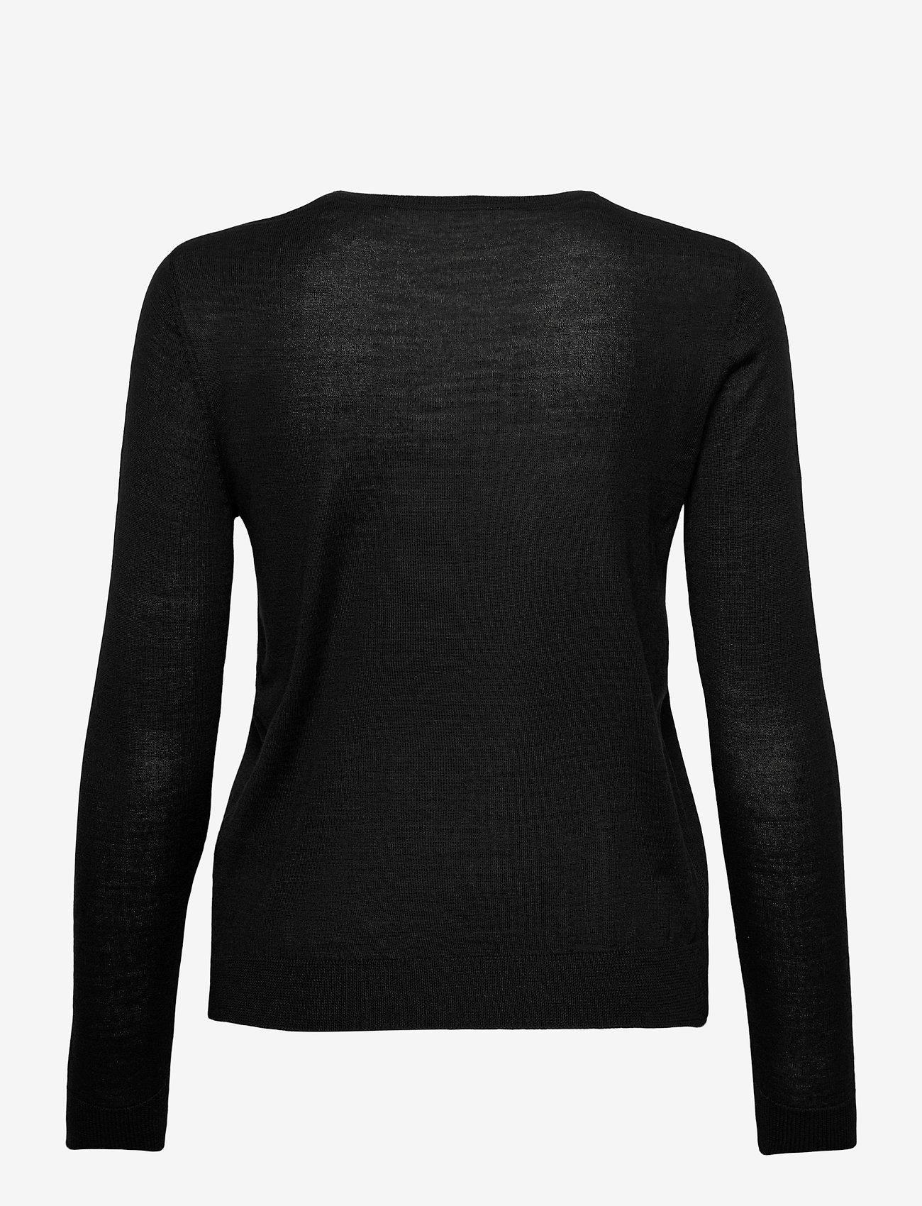 Rosemunde - Merino pullover ls - truien - black - 1