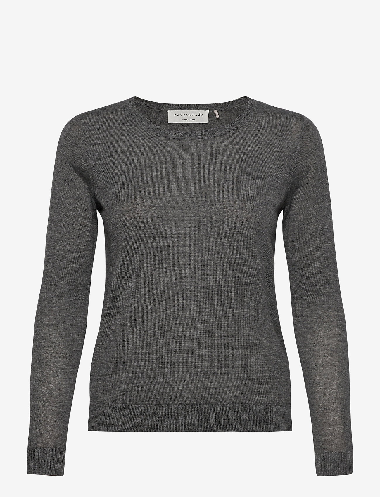 Rosemunde - Merino pullover ls - truien - medium grey melange - 0