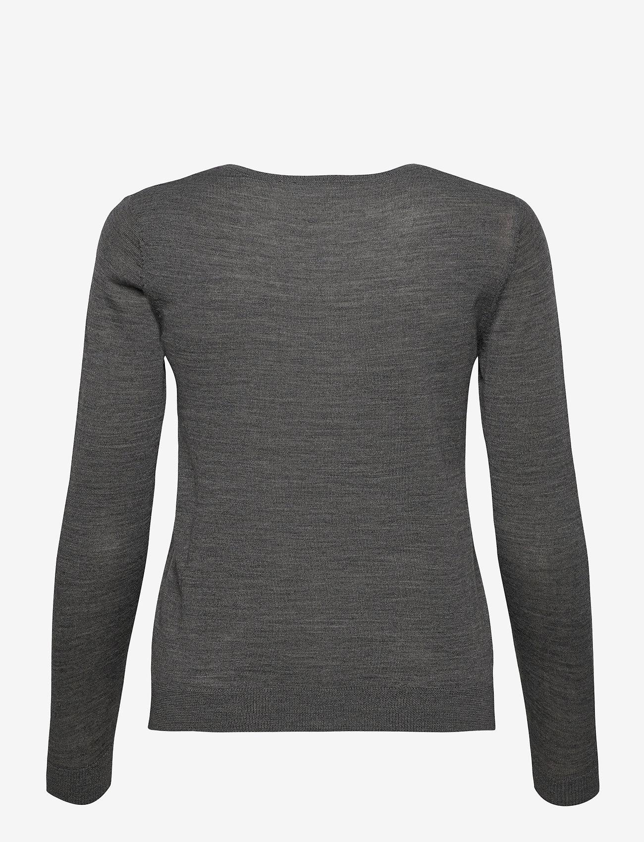 Rosemunde - Merino pullover ls - truien - medium grey melange - 1