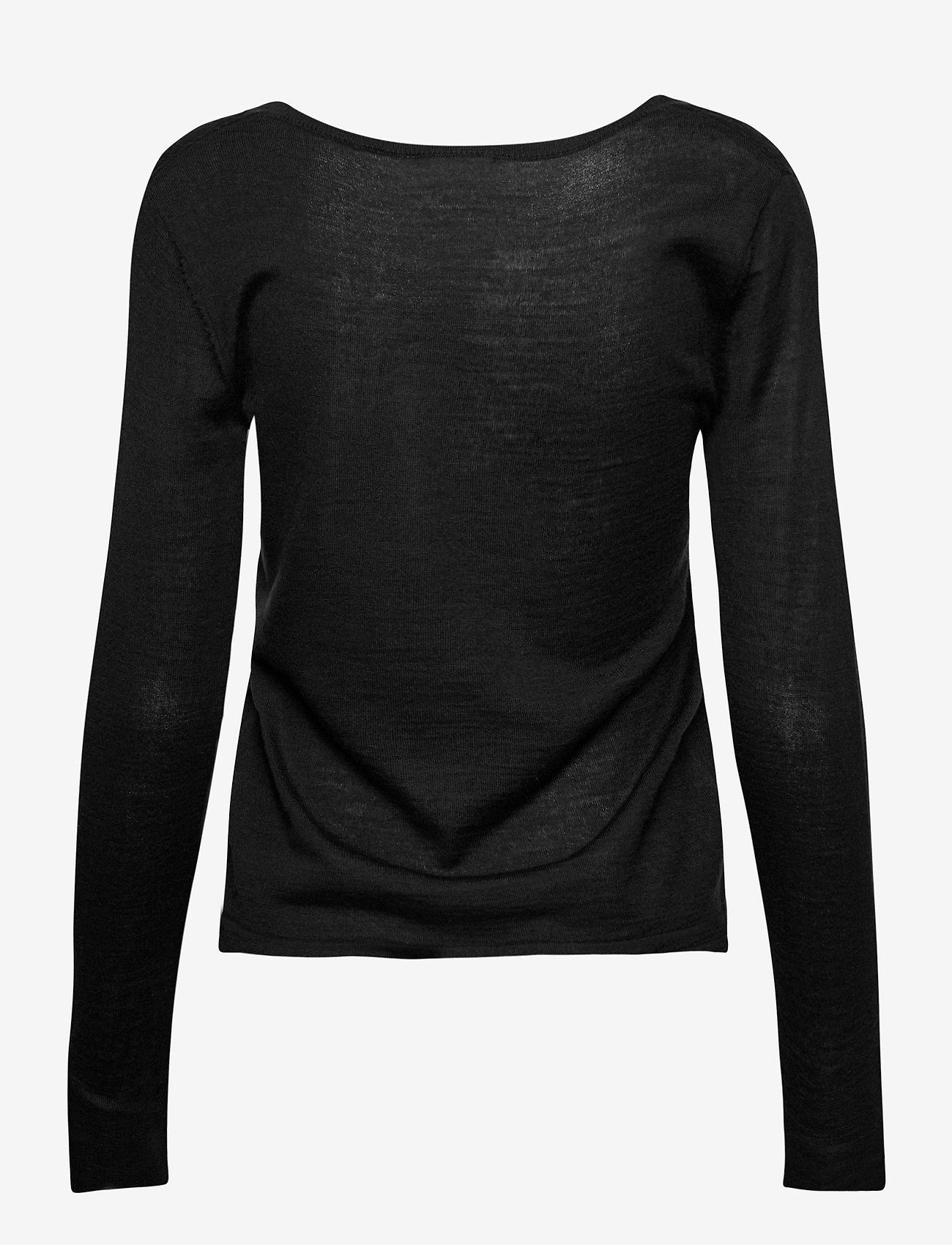 Rosemunde - Merino pullover ls - tröjor - black - 1