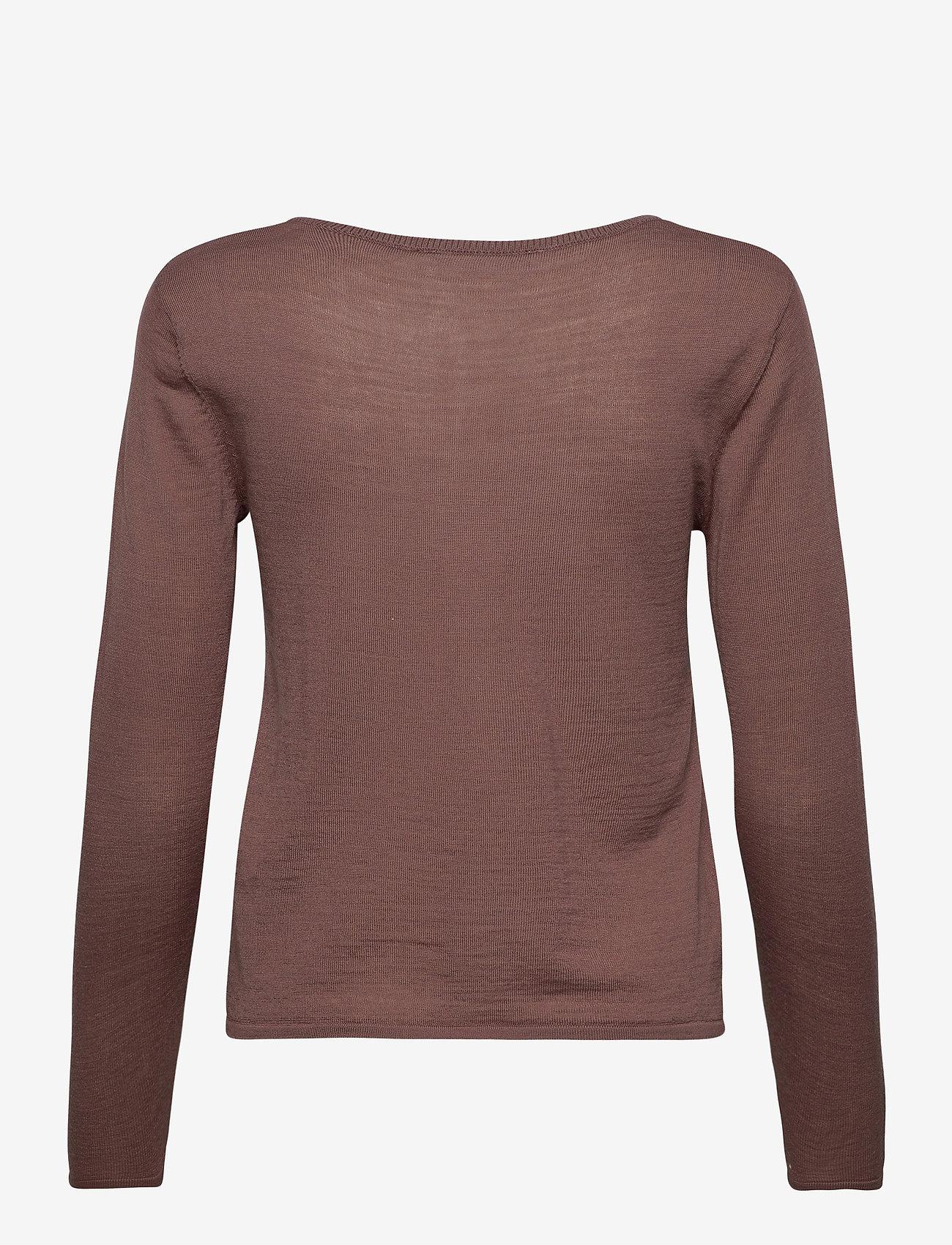 Rosemunde - Merino pullover ls - truien - dusty plum - 1