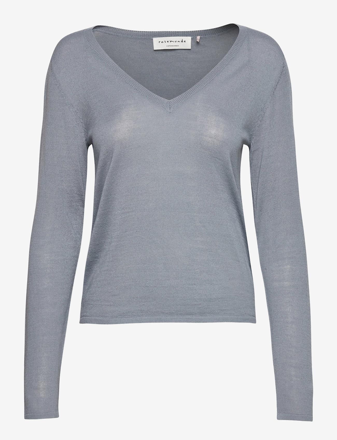 Rosemunde - Merino pullover ls - tröjor - mist - 0