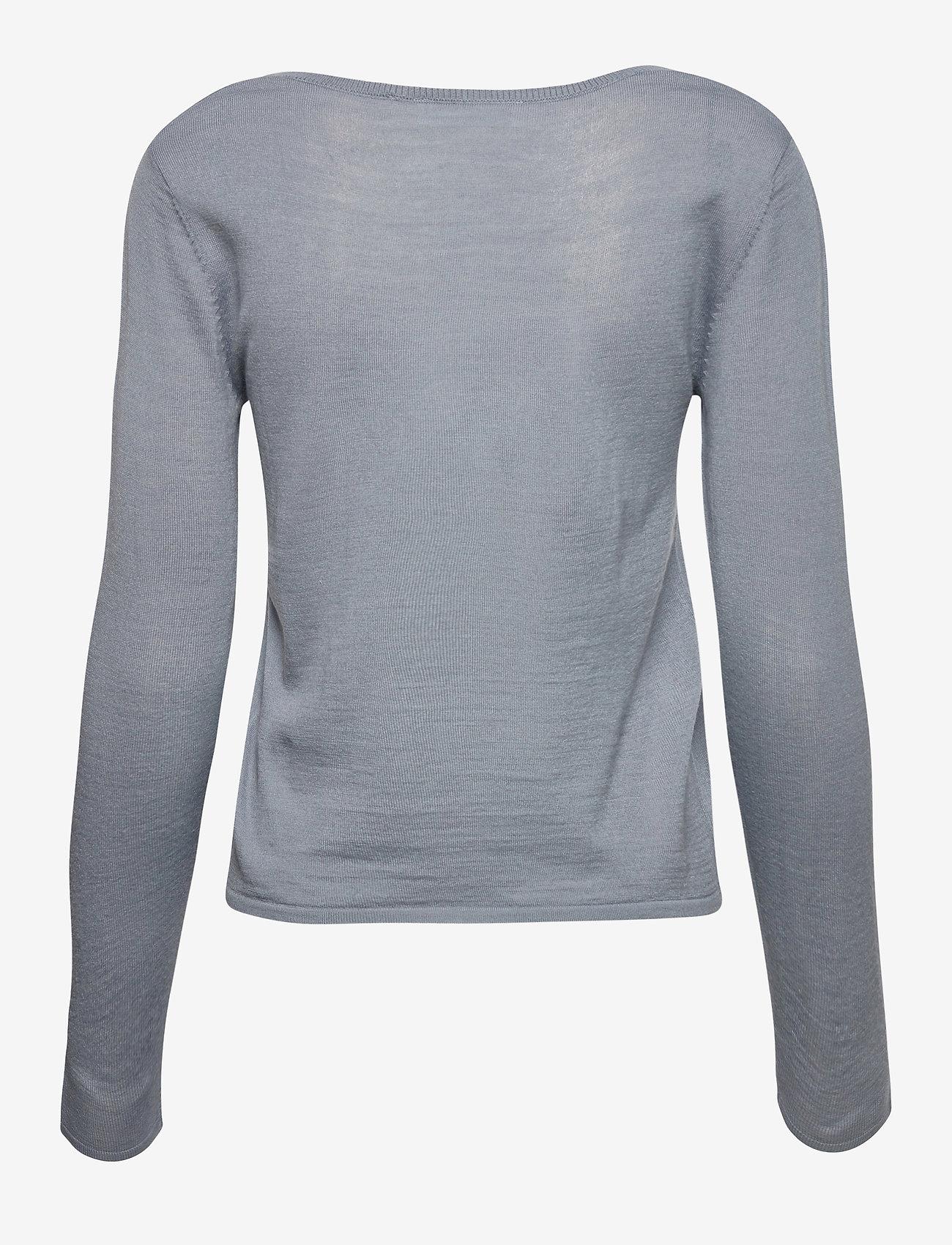Rosemunde - Merino pullover ls - tröjor - mist - 1