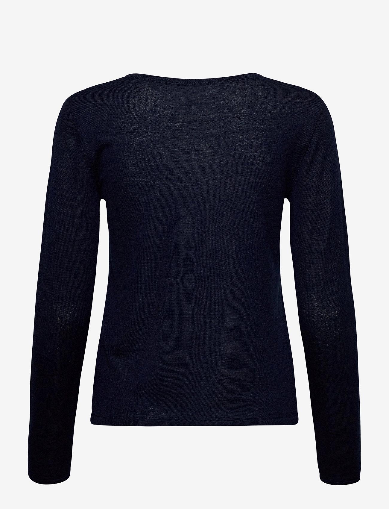 Rosemunde - Merino pullover ls - tröjor - navy - 1
