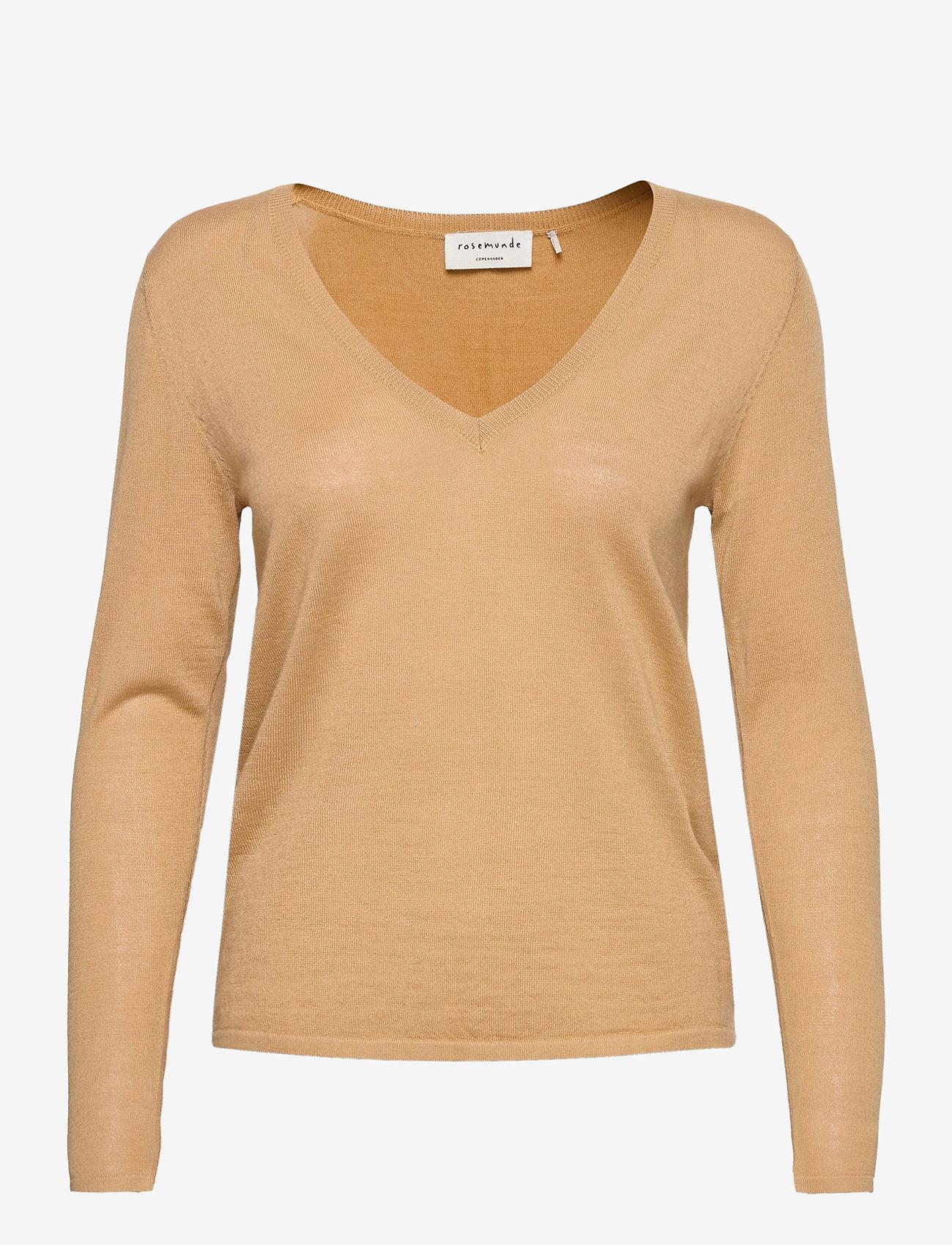 Rosemunde - Merino pullover ls - tröjor - pure camel - 0