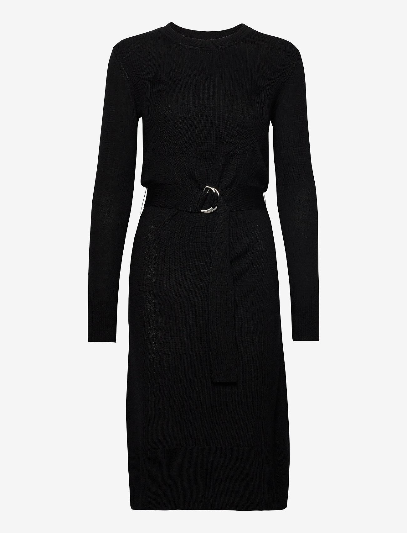 Rosemunde - Dress ls - midi kjoler - black - 0