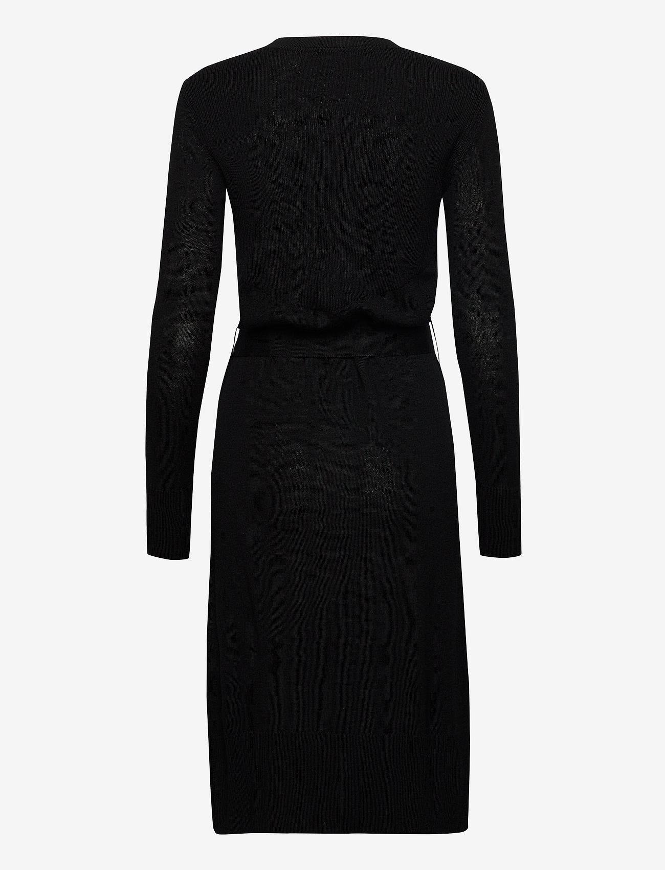 Rosemunde - Dress ls - midi kjoler - black - 1