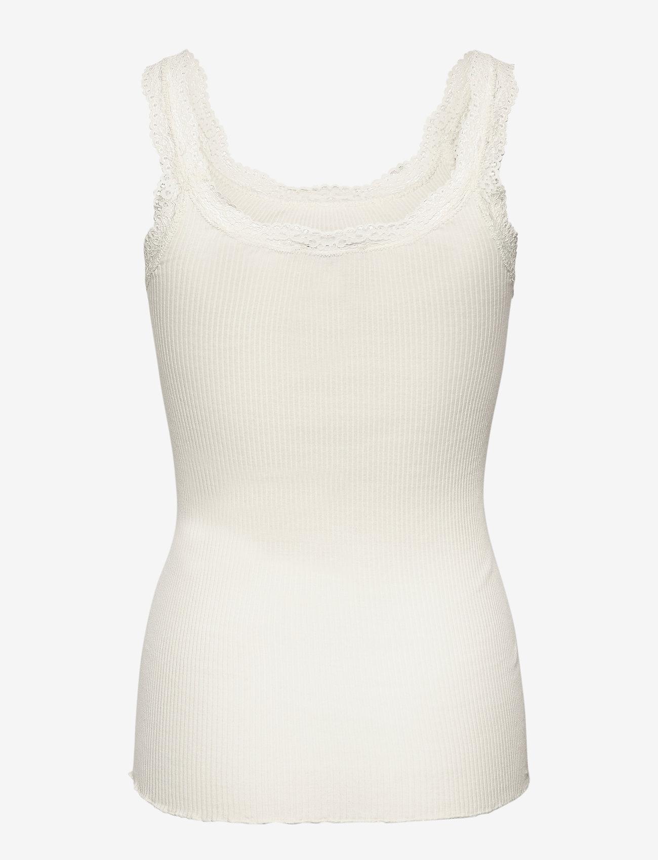 Rosemunde - Silk top w/lace - blouses zonder mouwen - ivory - 1