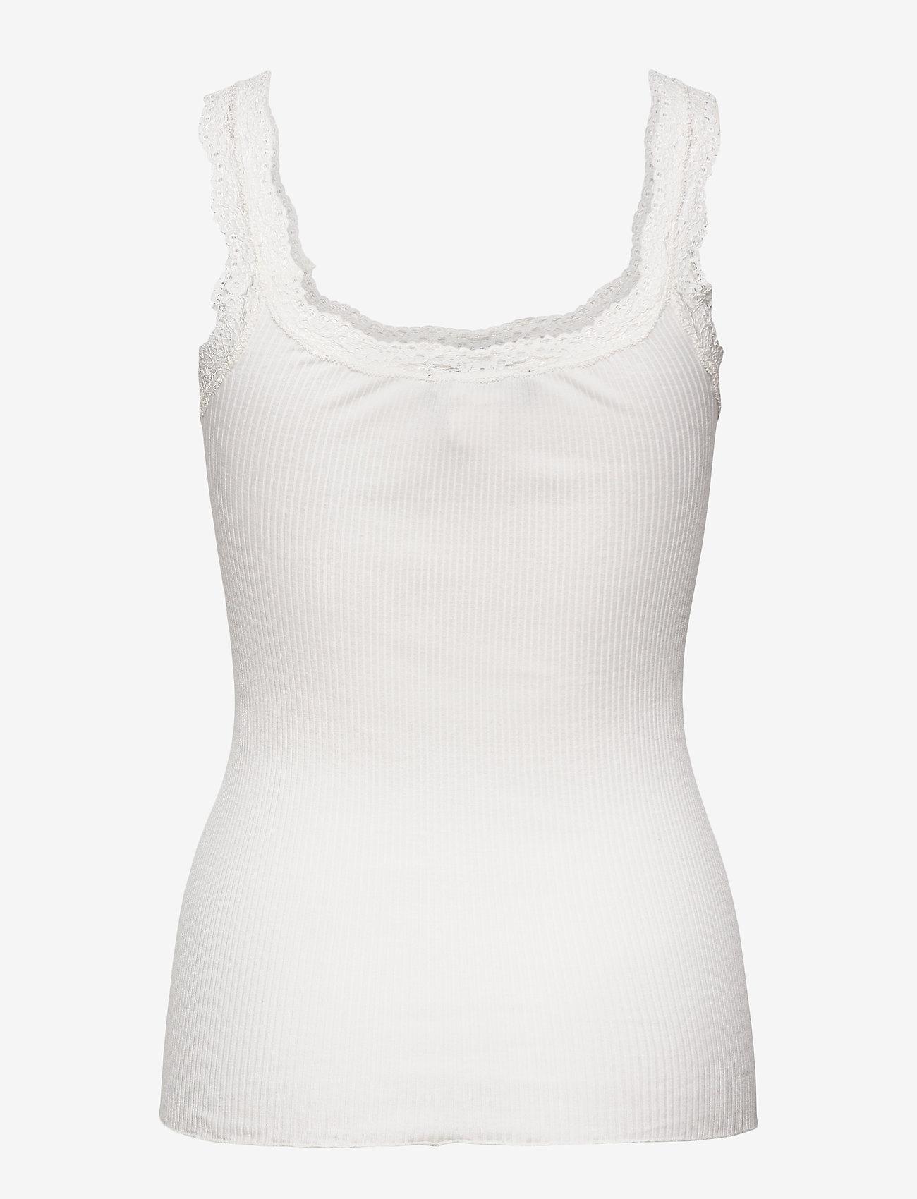 Rosemunde - Silk top w/lace - blouses zonder mouwen - new white - 1