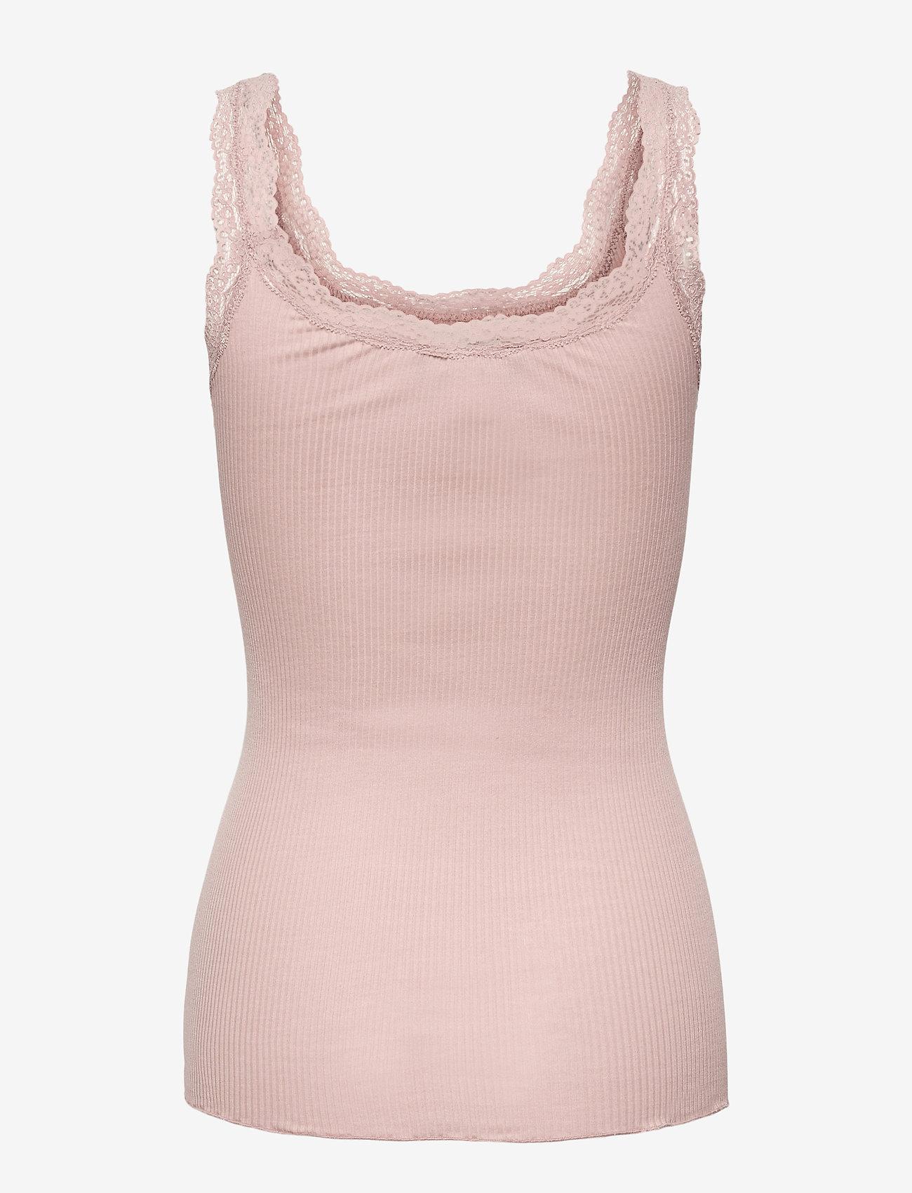 Rosemunde - Silk top w/lace - Ärmlösa blusar - vintage powder - 1