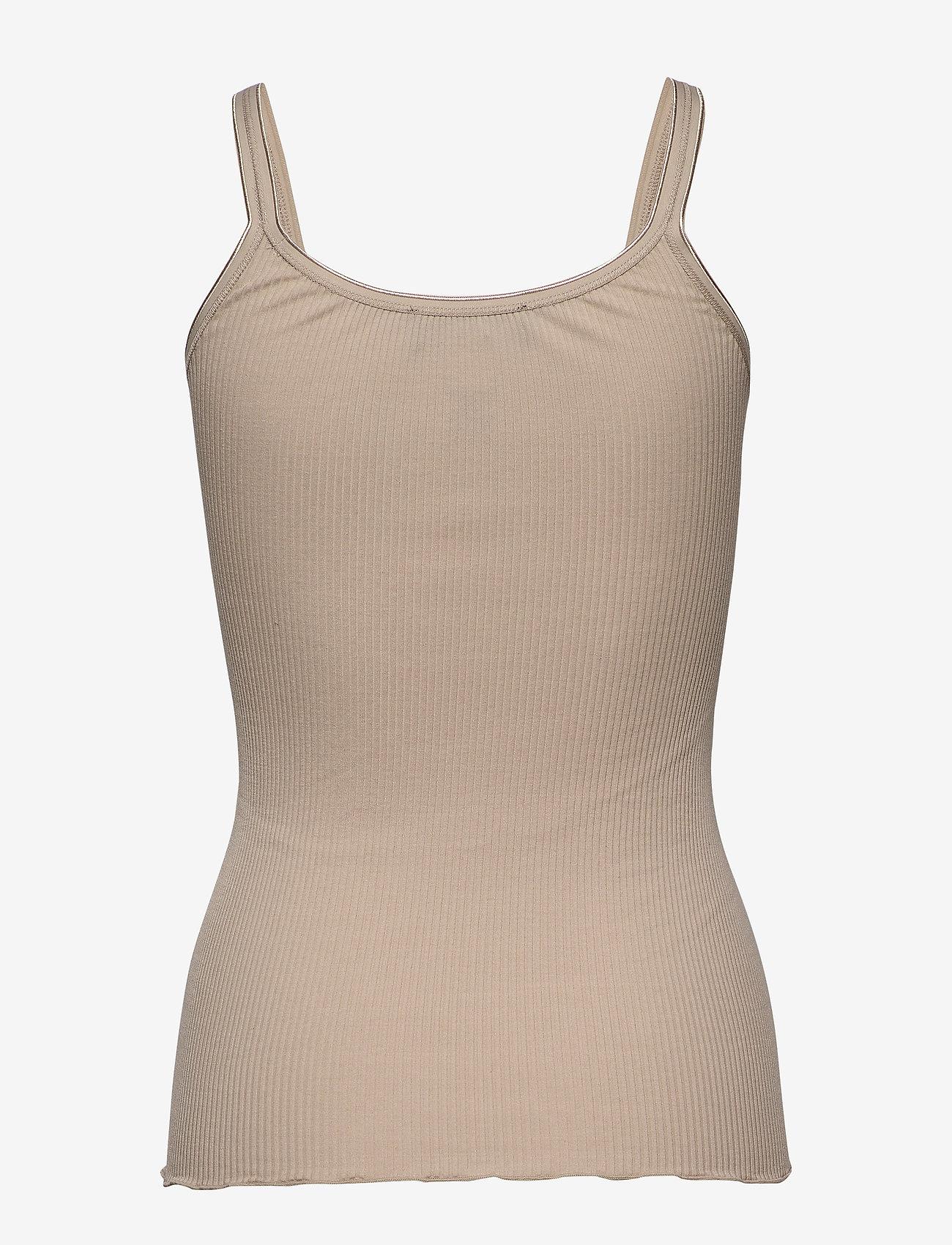 Rosemunde Silk Top Regular Length W/ Elastic - T-shirts & Toppar Cacao