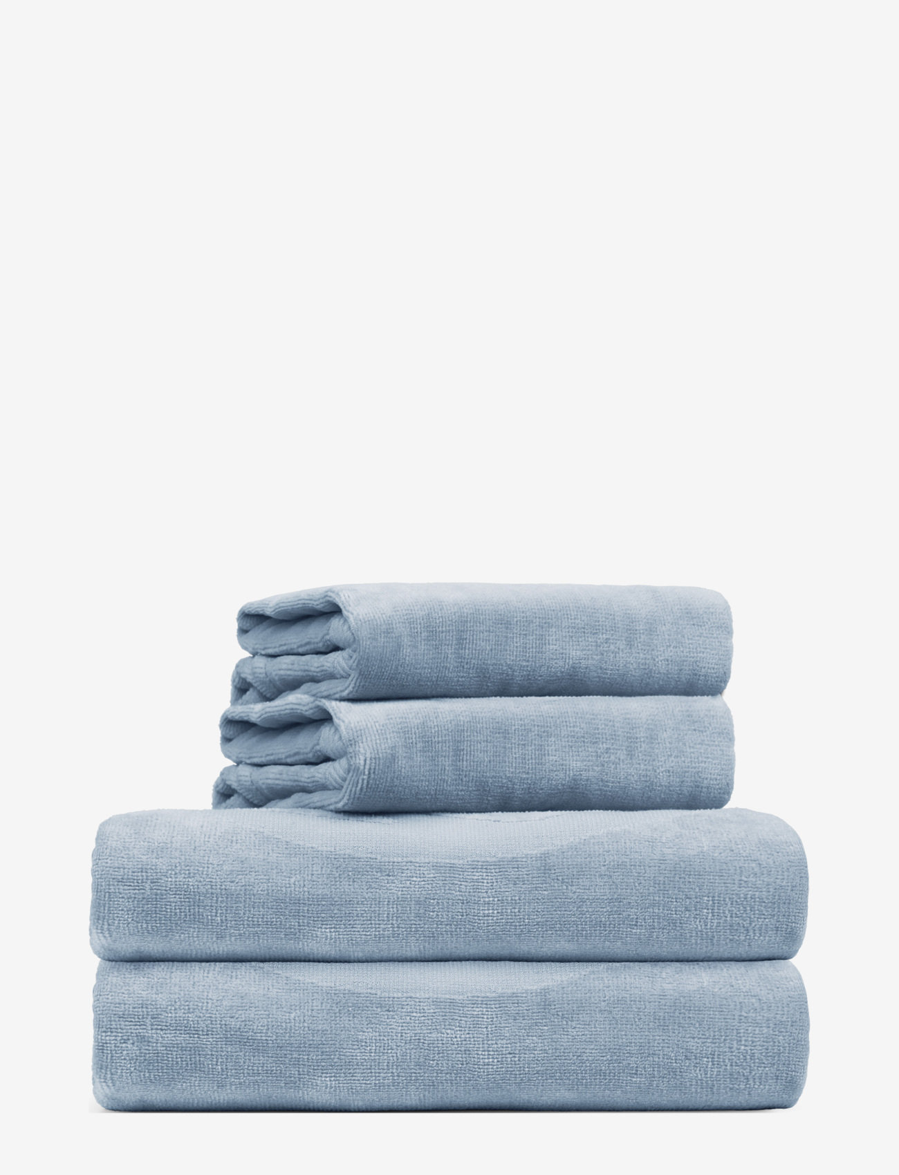 Rosemunde - towel 95x140cm - hand towels & bath towels - dusty blue - 0