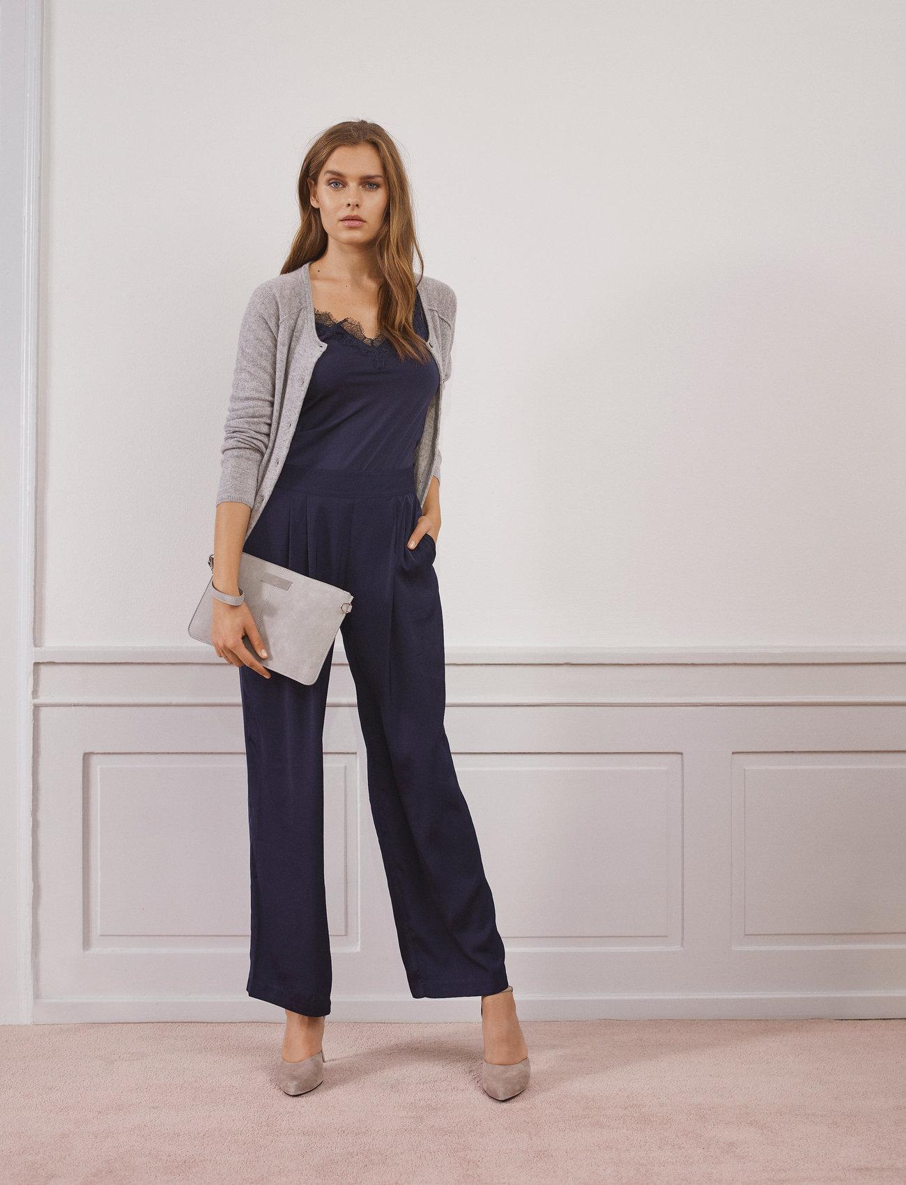 Rosemunde - Wool & cashmere cardigan ls - koftor - light grey melange - 0