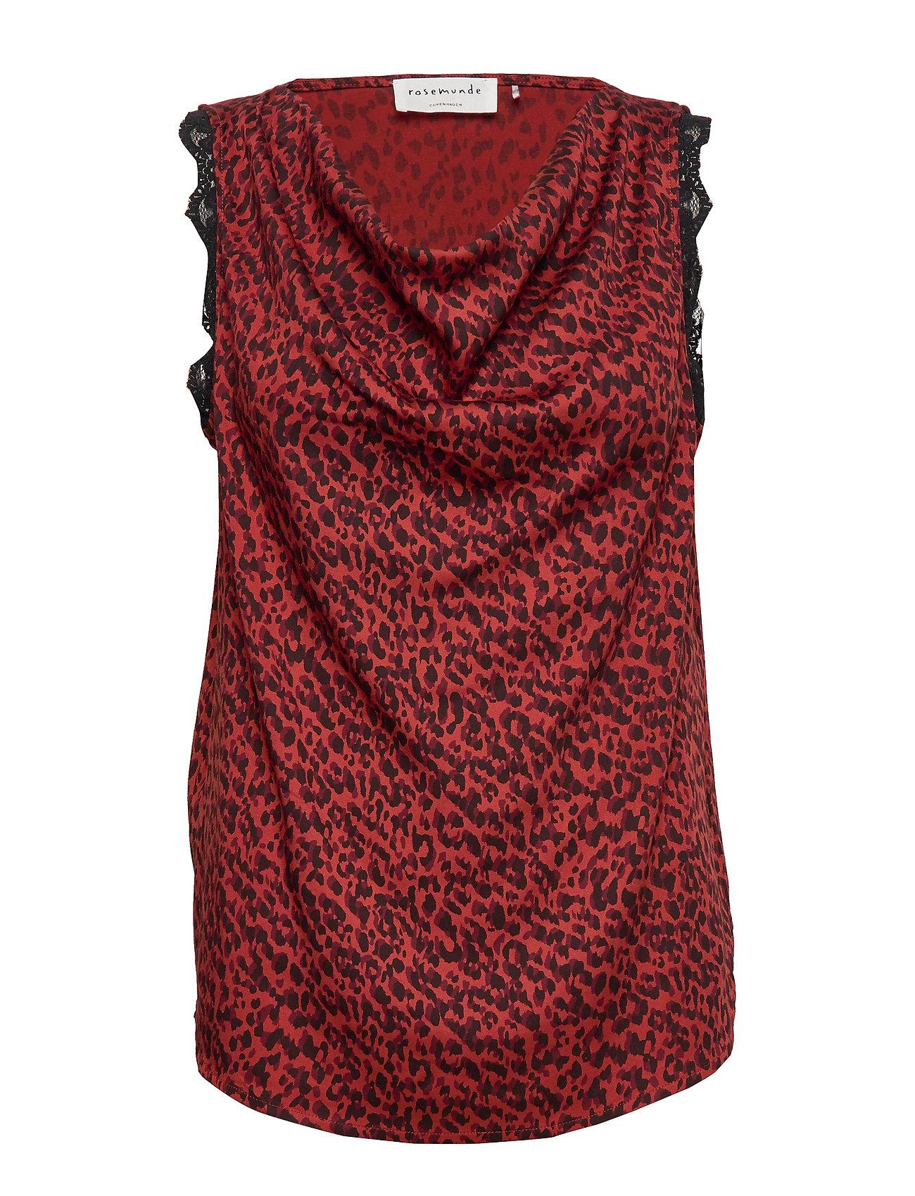 Rosemunde Top - RED SHADOW LEOPARD PRINT