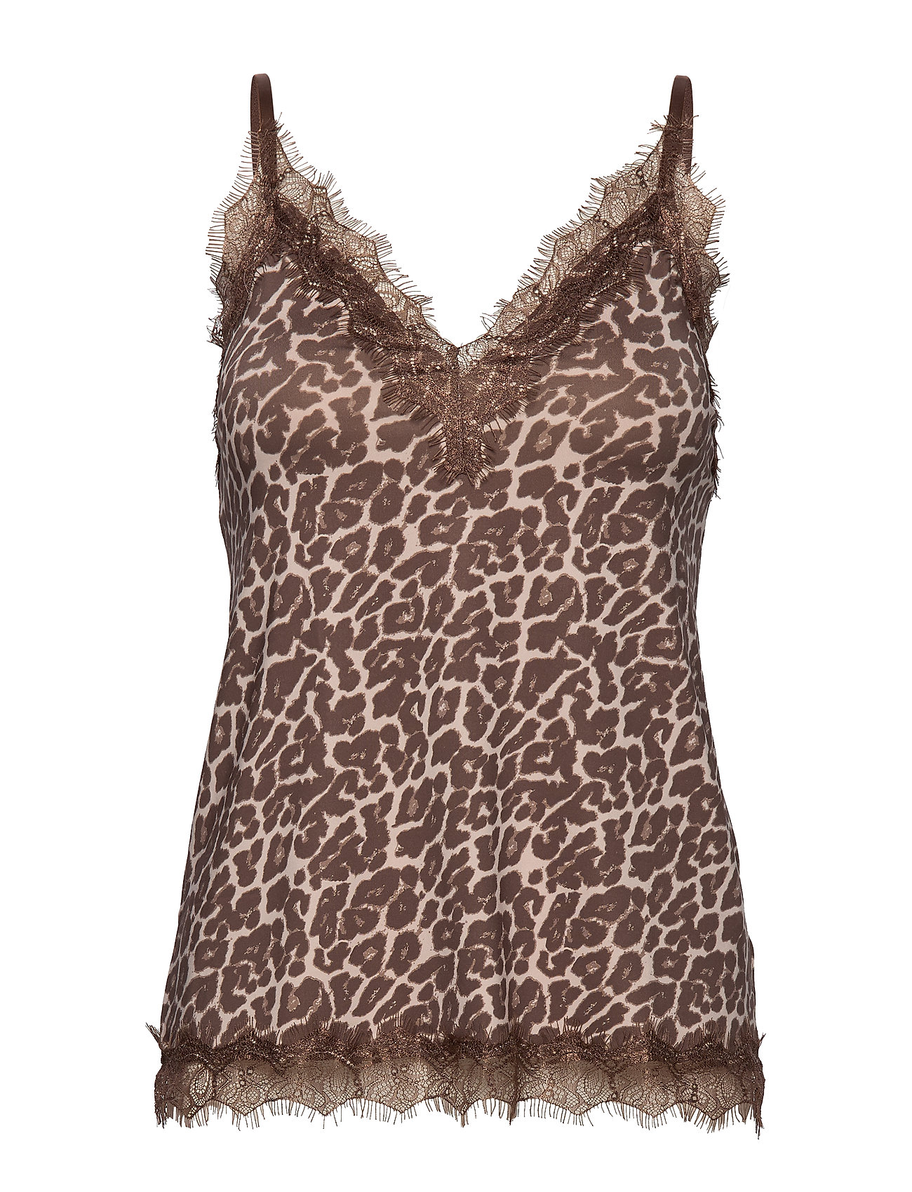 Rosemunde Strap top - CACAO BROWN LEOPARD PRINT