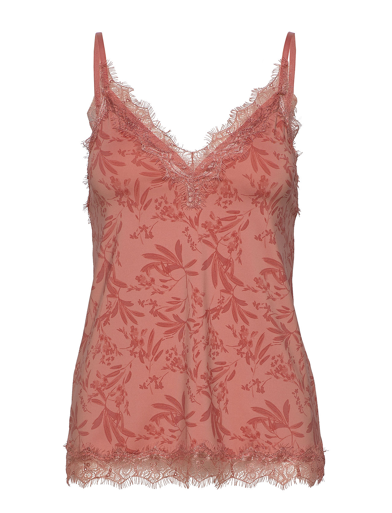 Rosemunde Strap top - ROSE SMALL LEAF PRINT