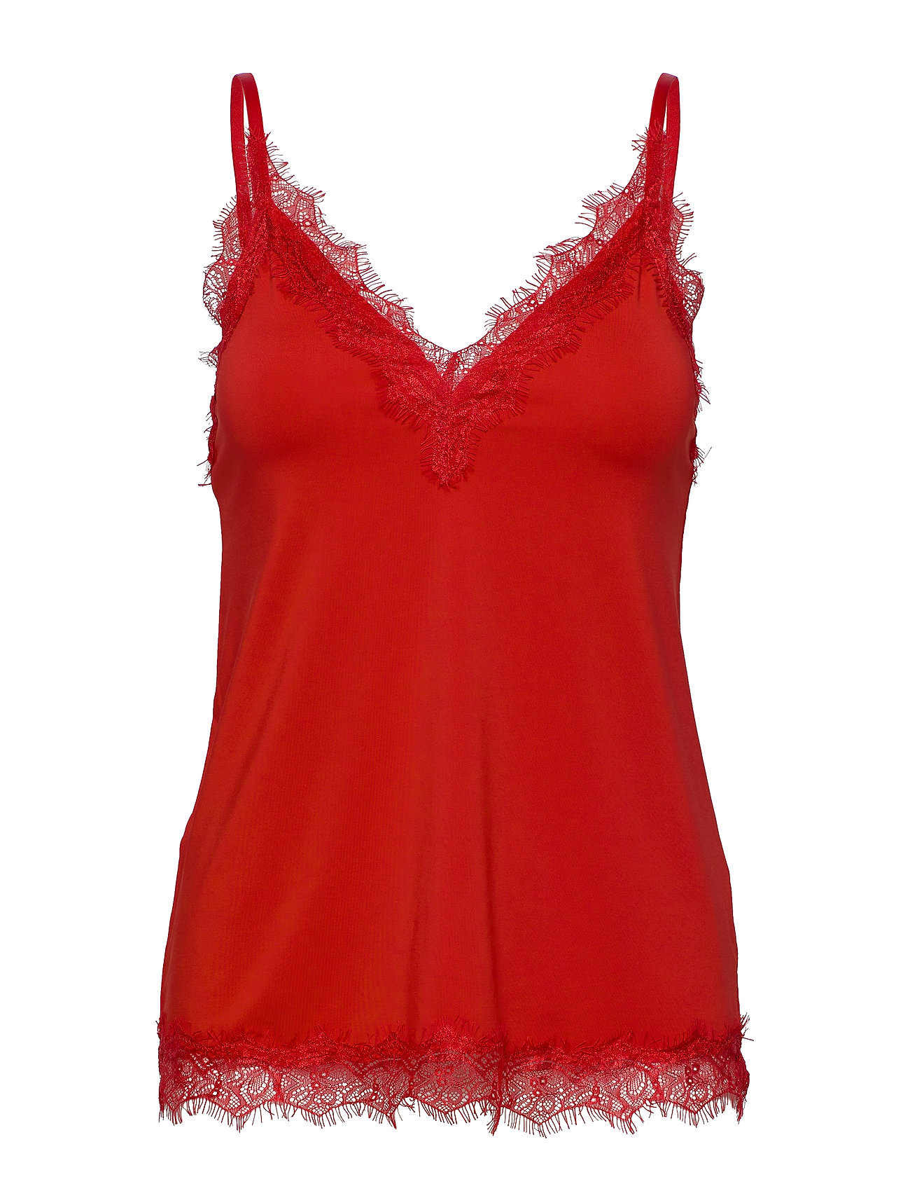 Rosemunde Strap top - SPICY RED