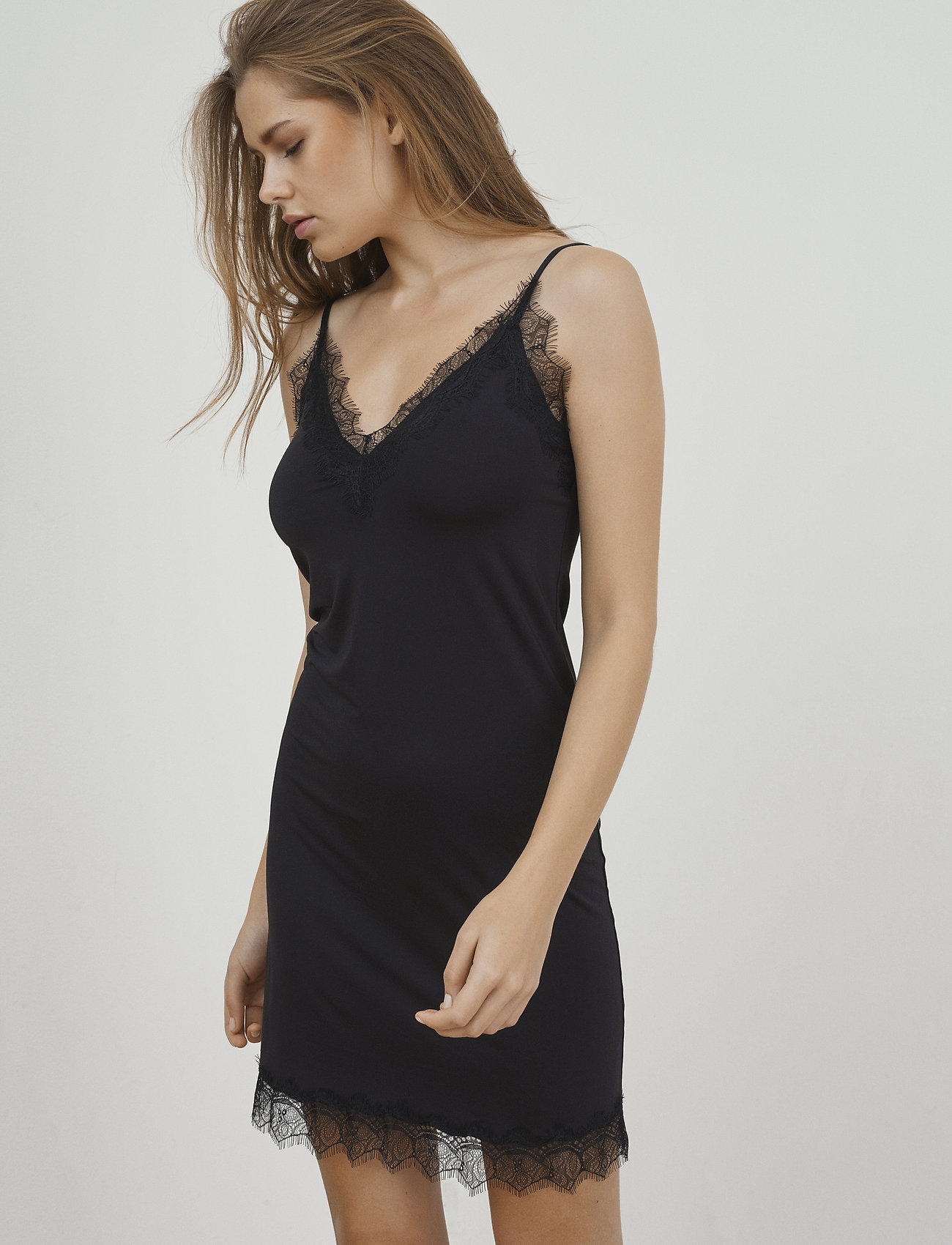 Rosemunde - Strap dress - korte kjoler - black - 0