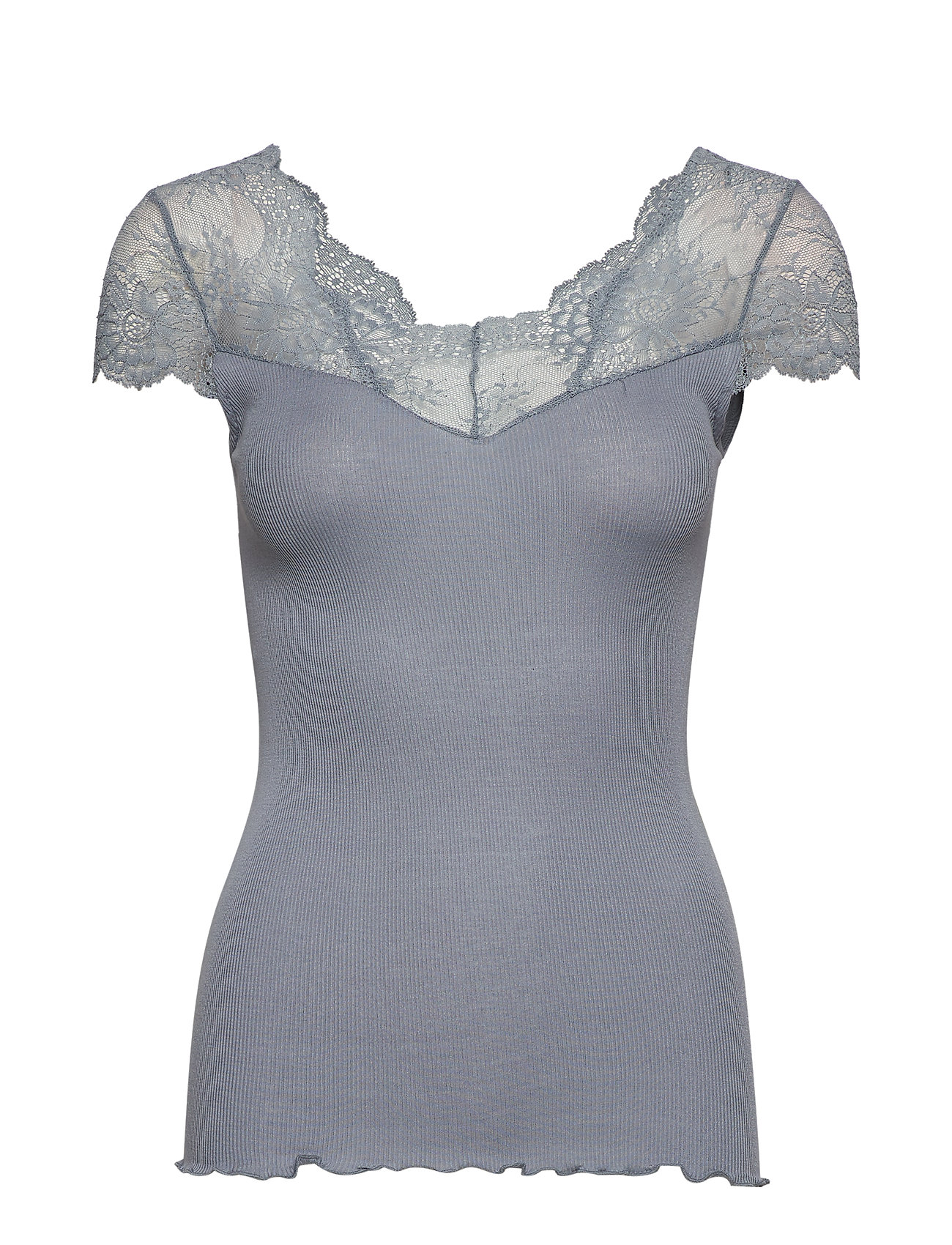 Rosemunde Silk t-shirt regular ss w/ lace - TRADEWINDS