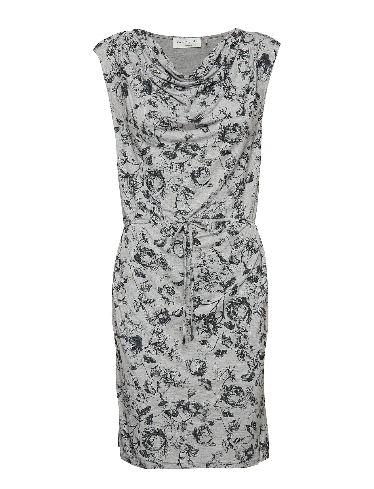 Rosemunde Dress ss - GREY VINTAGE ROSE PRINT