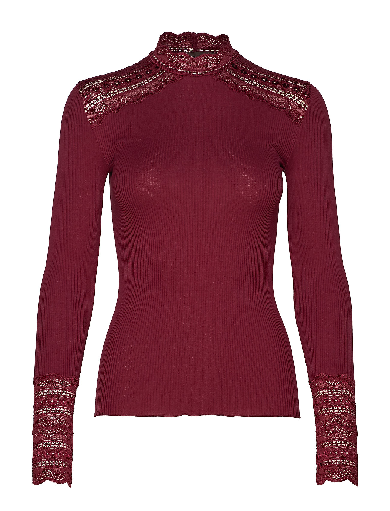 Rosemunde Silk t-shirt turtleneck regular ls - SOFT WINE