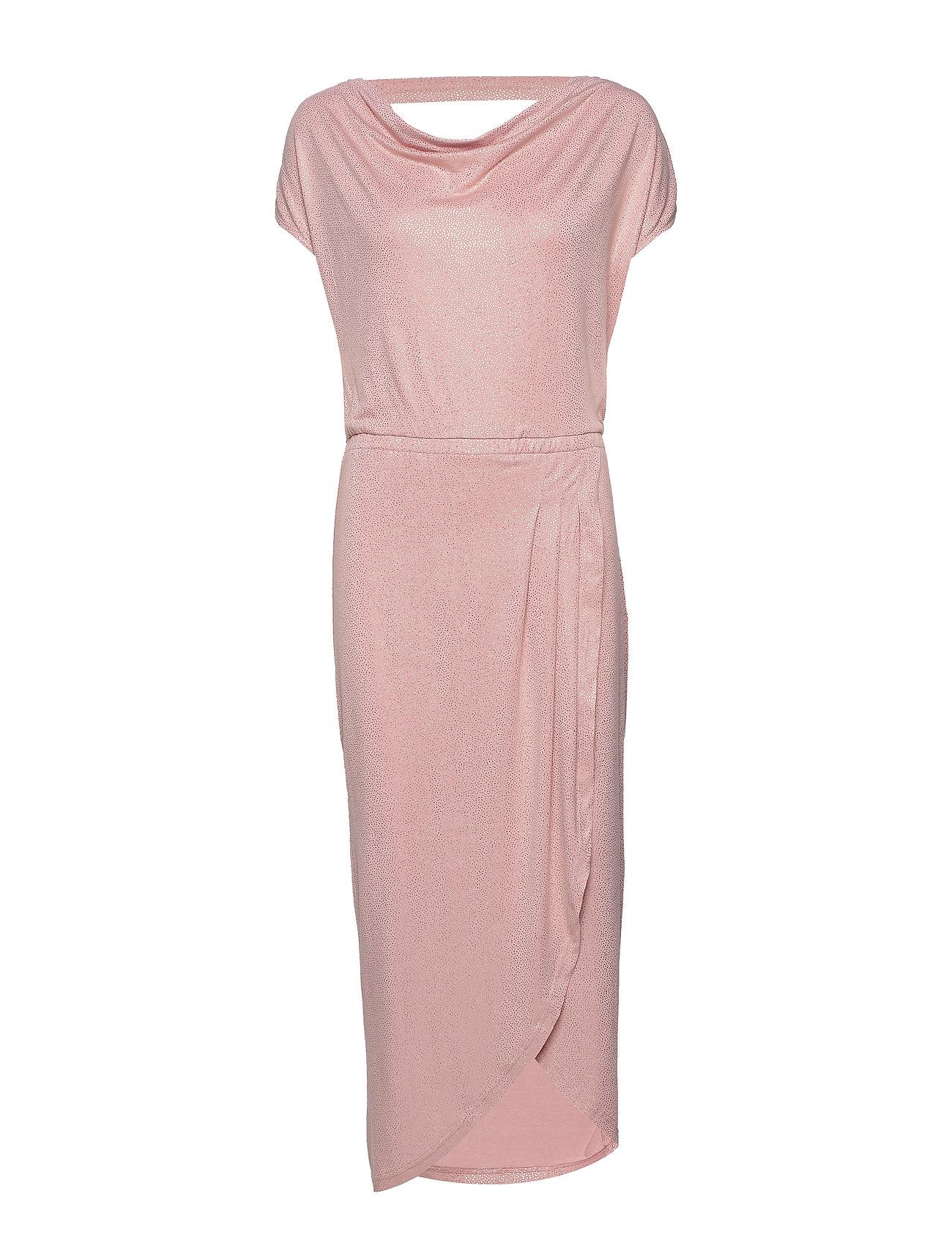 Rosemunde Dress ss - POWDER ROSE SHIMMERING DOTS