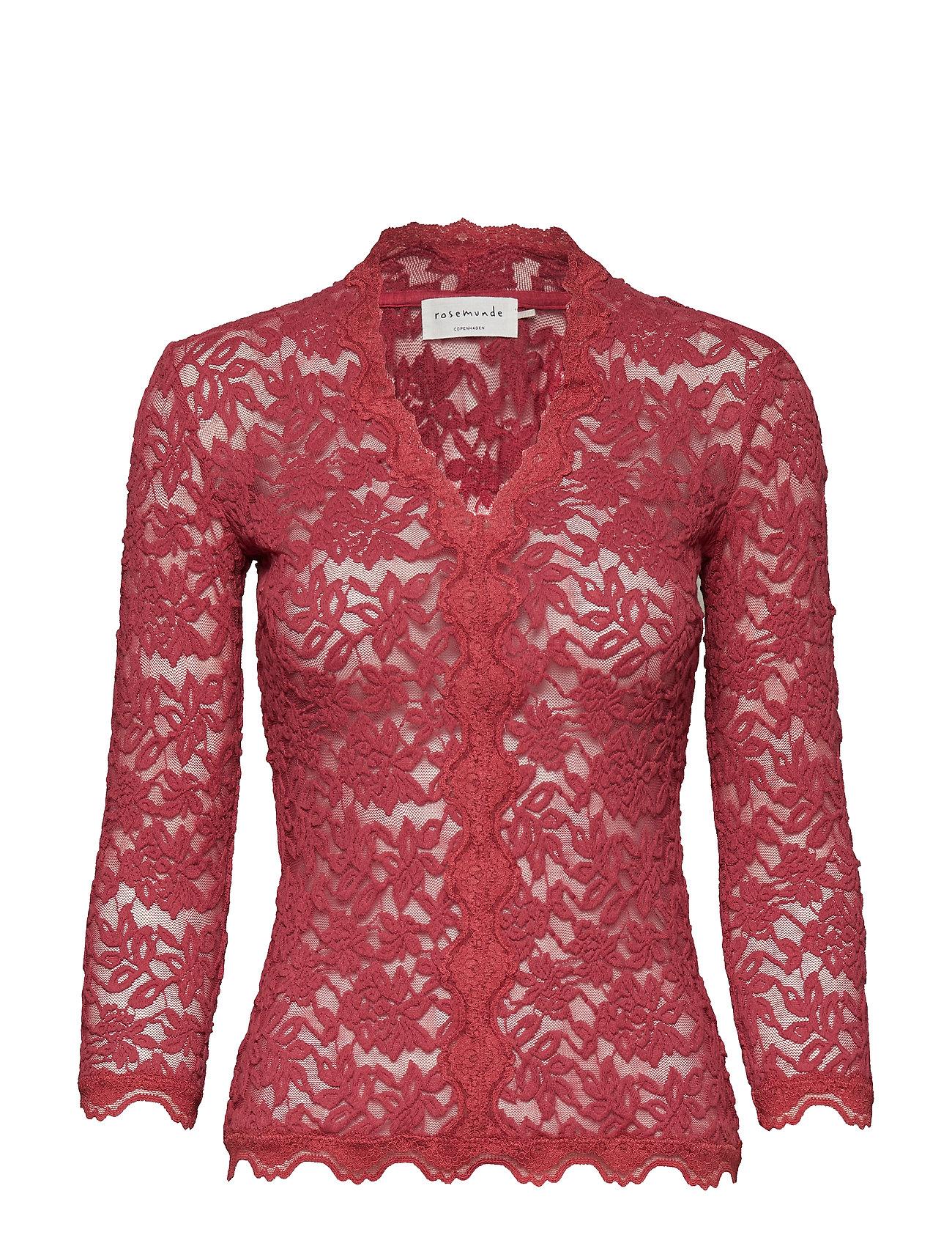 Rosemunde T-shirt 3/4 s - SCARLET RED