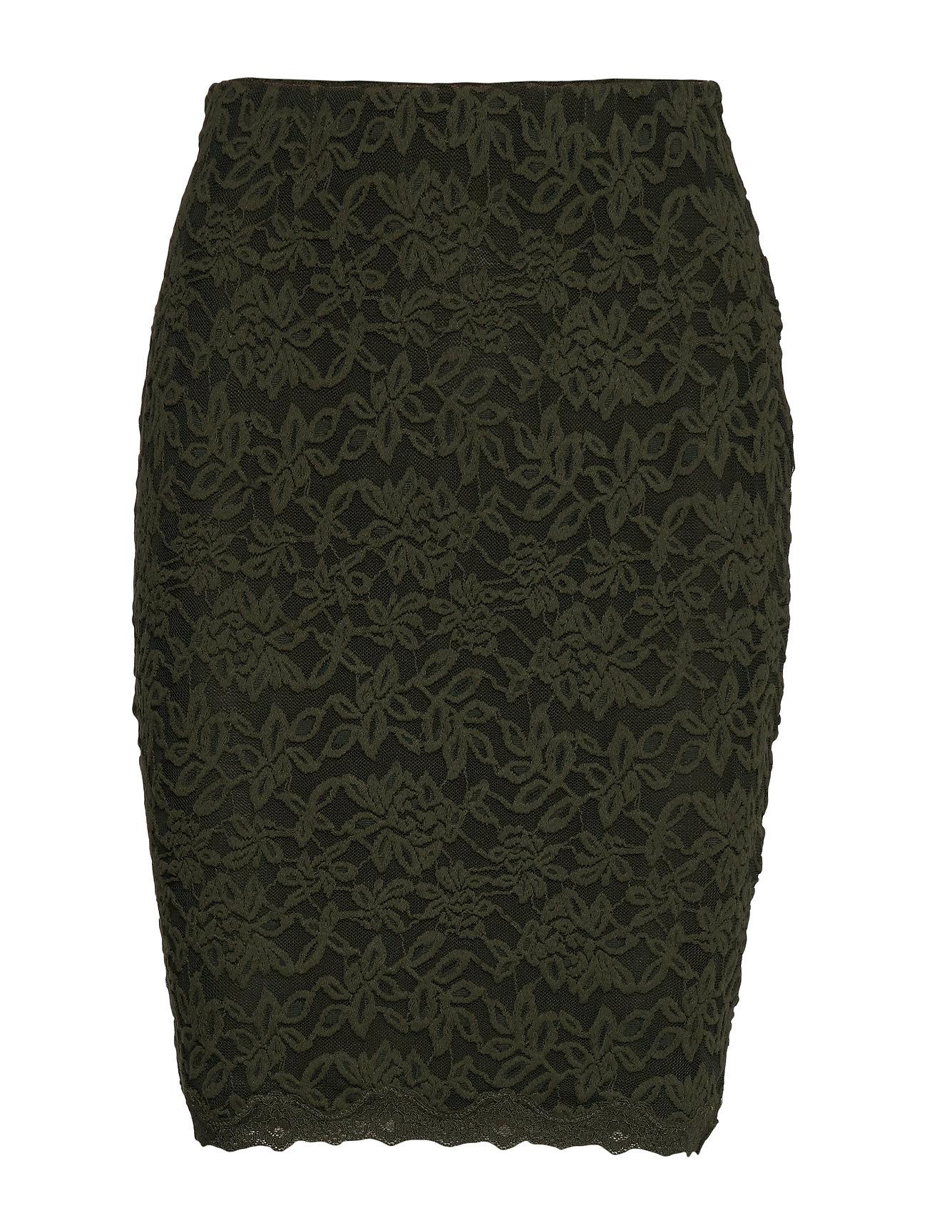 Rosemunde Skirt - BLACK GREEN
