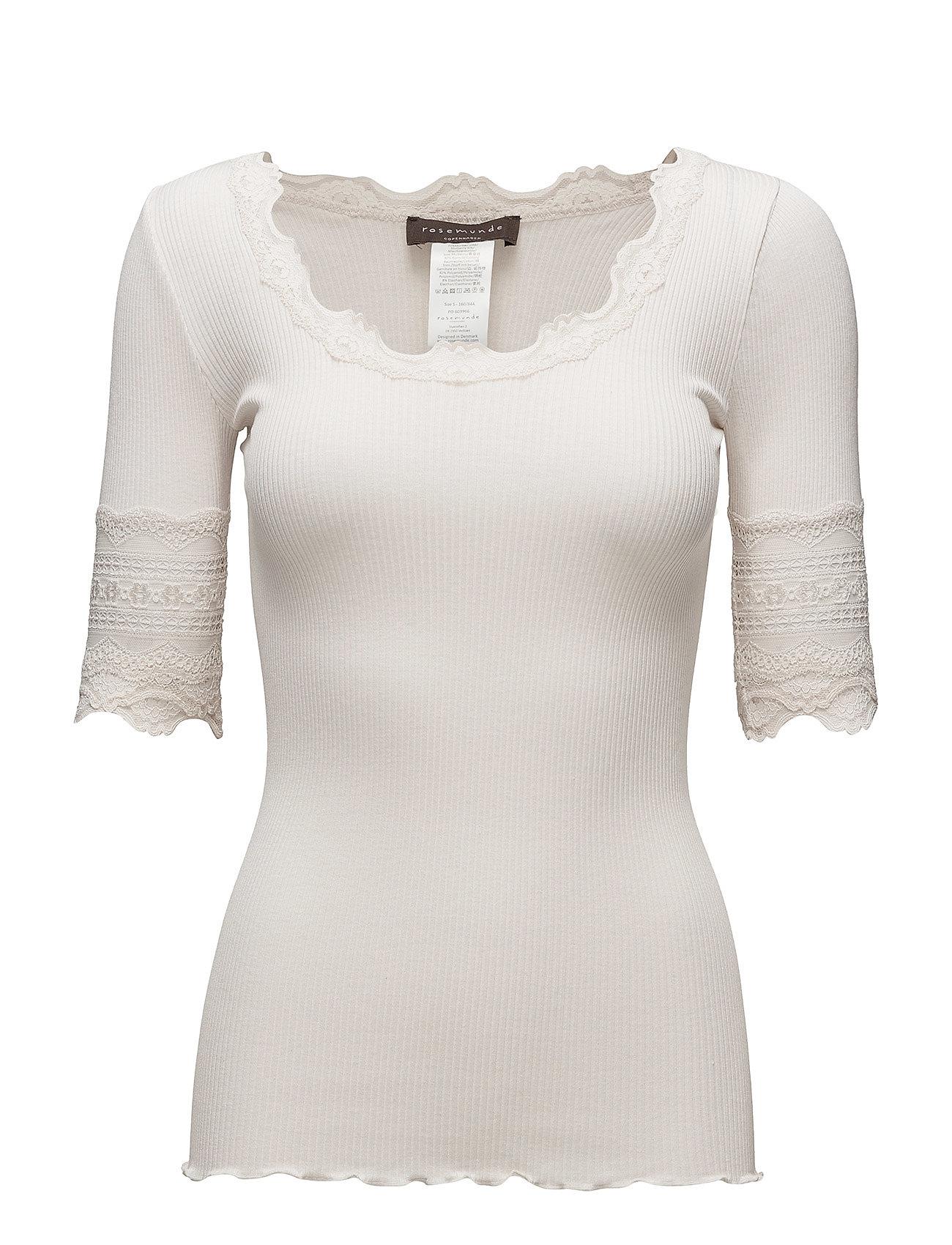 Rosemunde Silk T-Shirt Regular Ss W/Wide Lace 420527544
