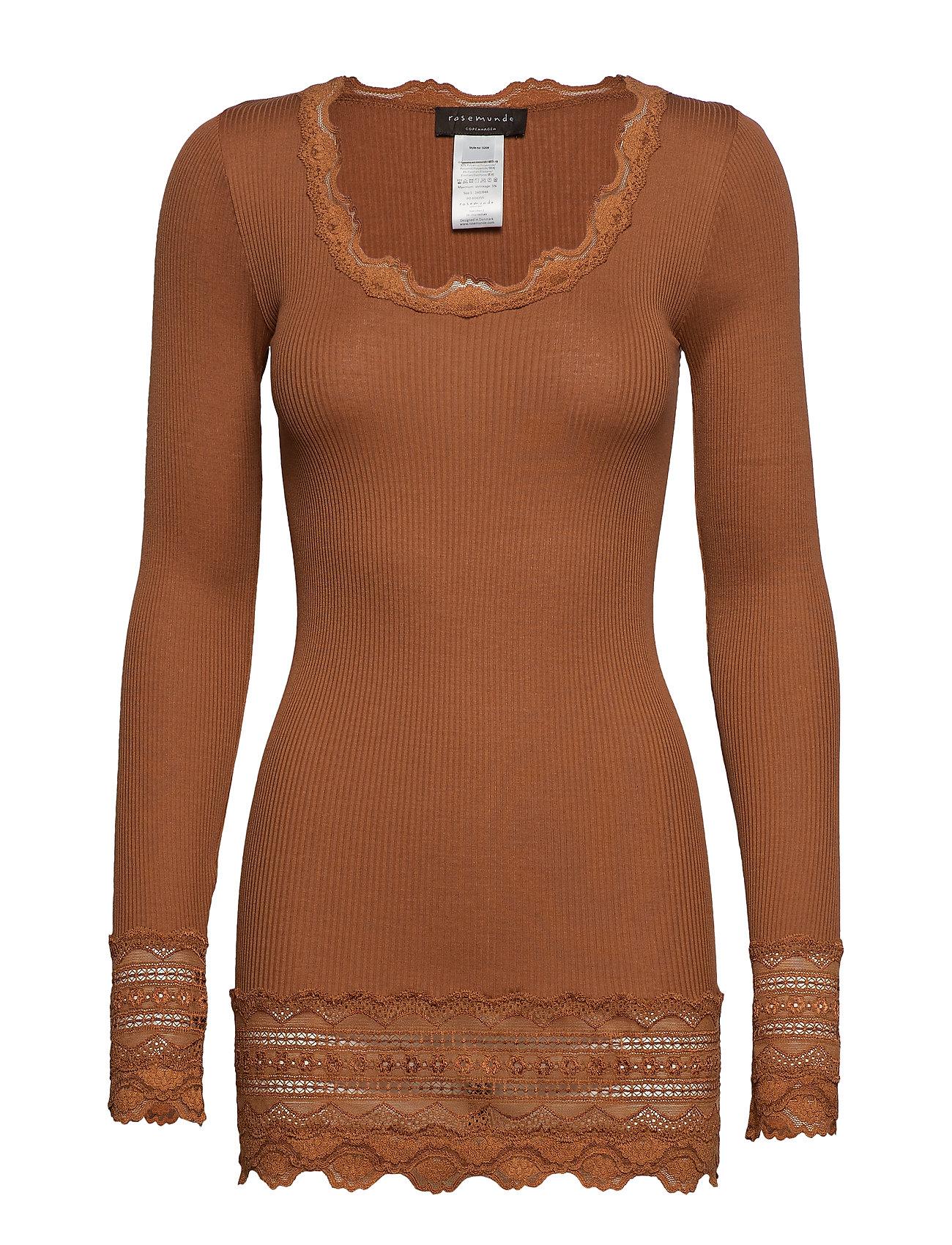 T shirt W LacemochaRosemunde Medium Ls wide Silk BWEoCerdQx