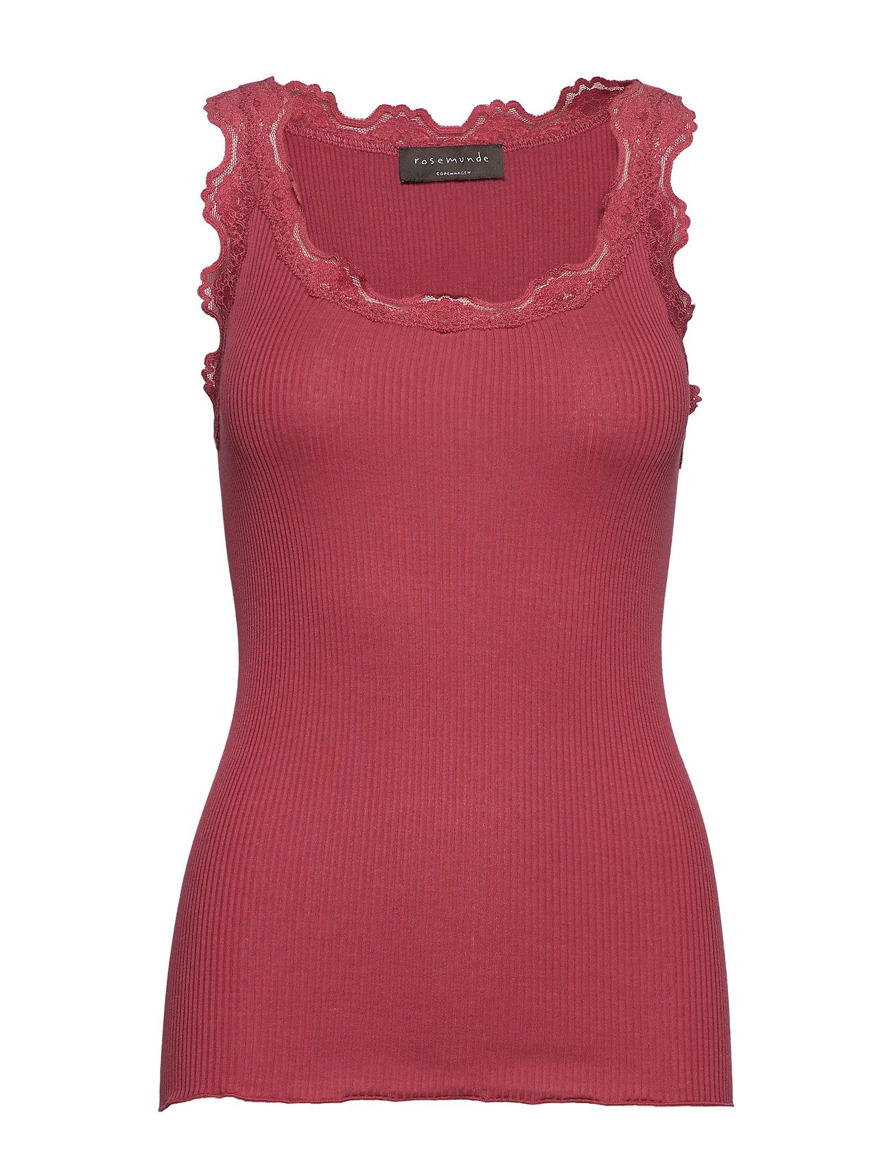 Rosemunde Silk top - SCARLET RED