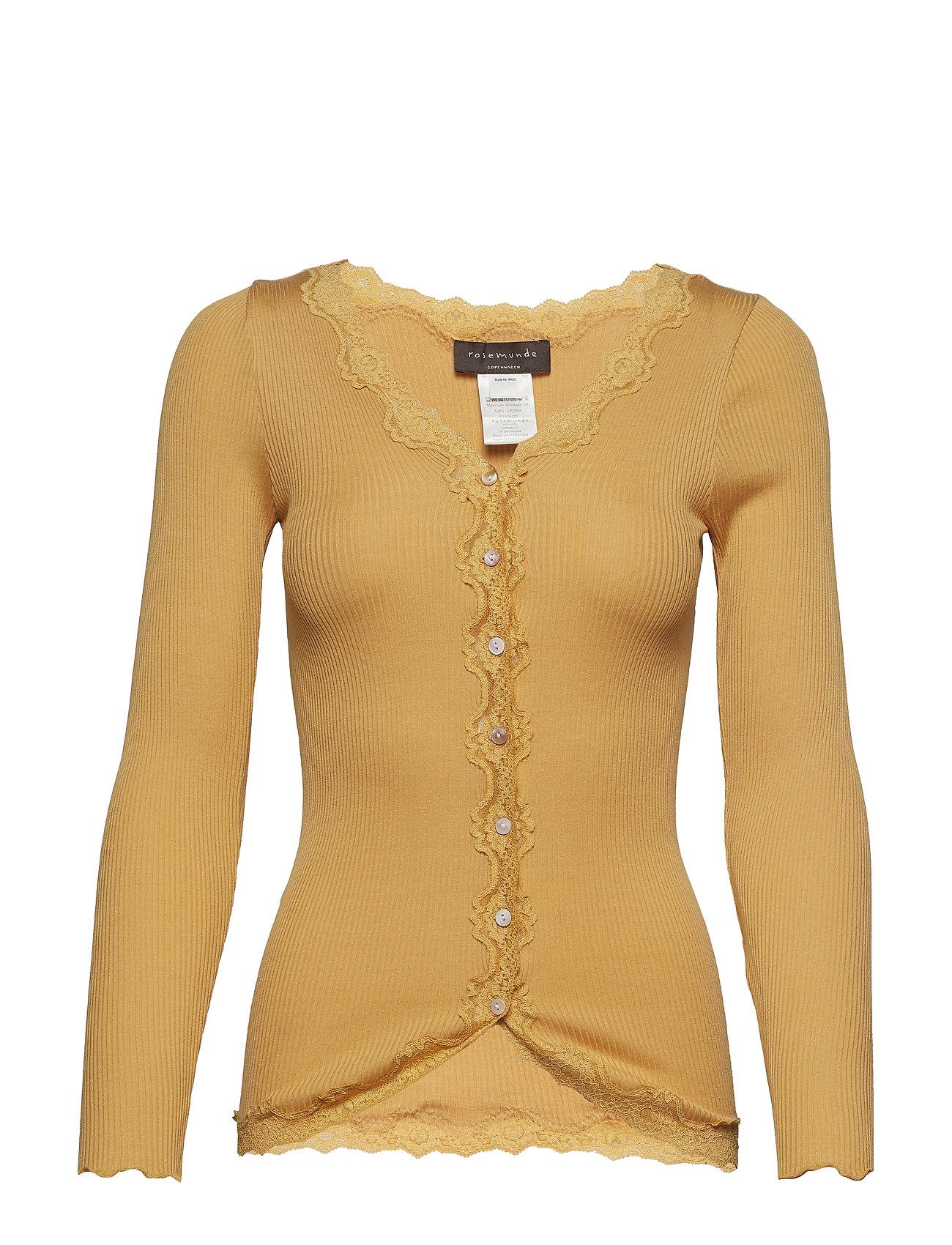 Rosemunde Silk cardigan regular ls w/rev vint - FALL LEAF
