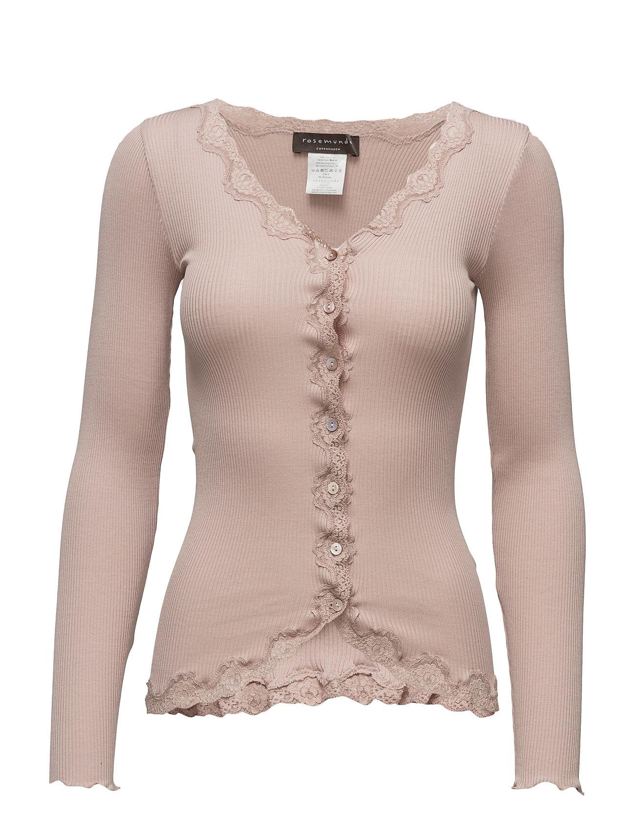 Rosemunde Silk cardigan regular ls w/rev vint - VINTAGE POWDER