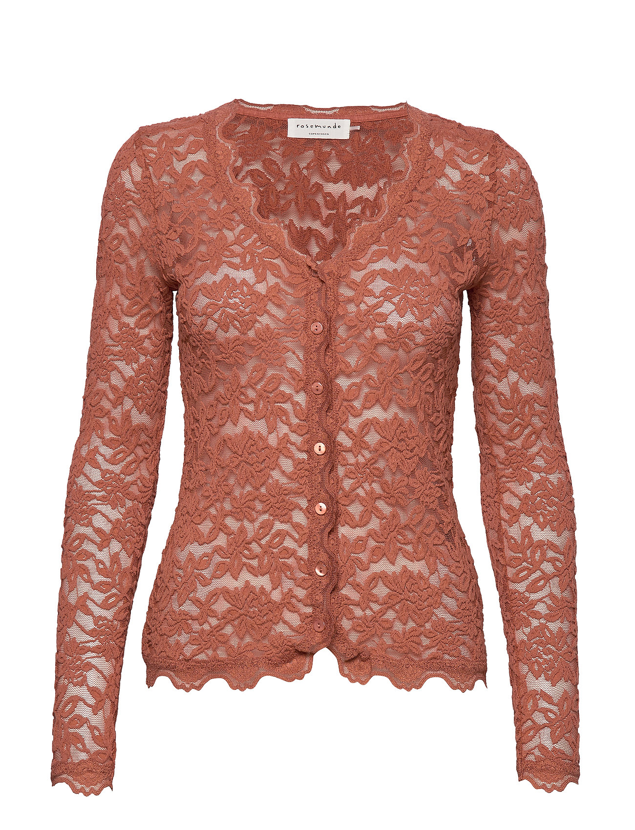 Rosemunde Cardigan ls - COPPER BROWN