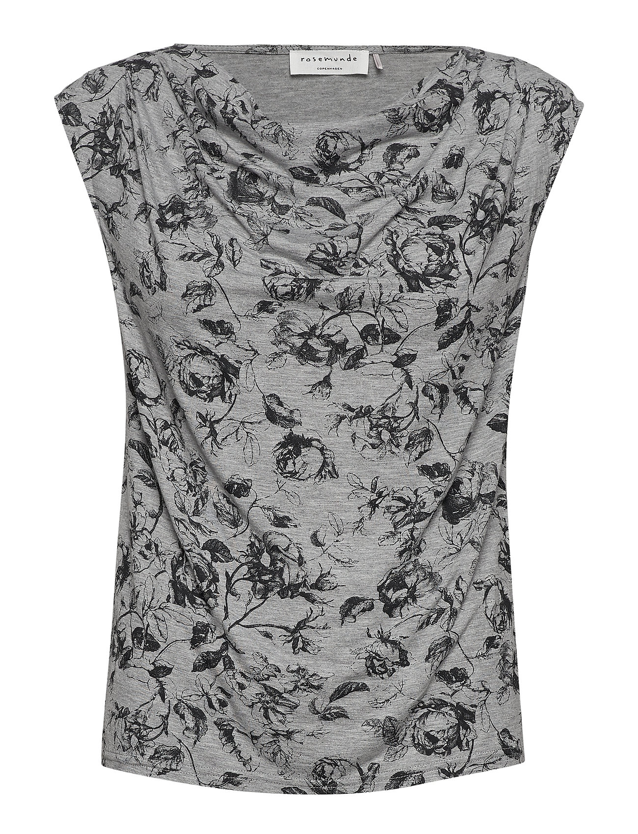 Rosemunde T-shirt ss - GREY VINTAGE ROSE PRINT