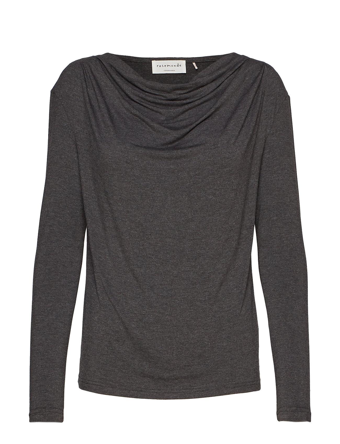 Rosemunde T-shirt ls - DARK GREY MELANGE