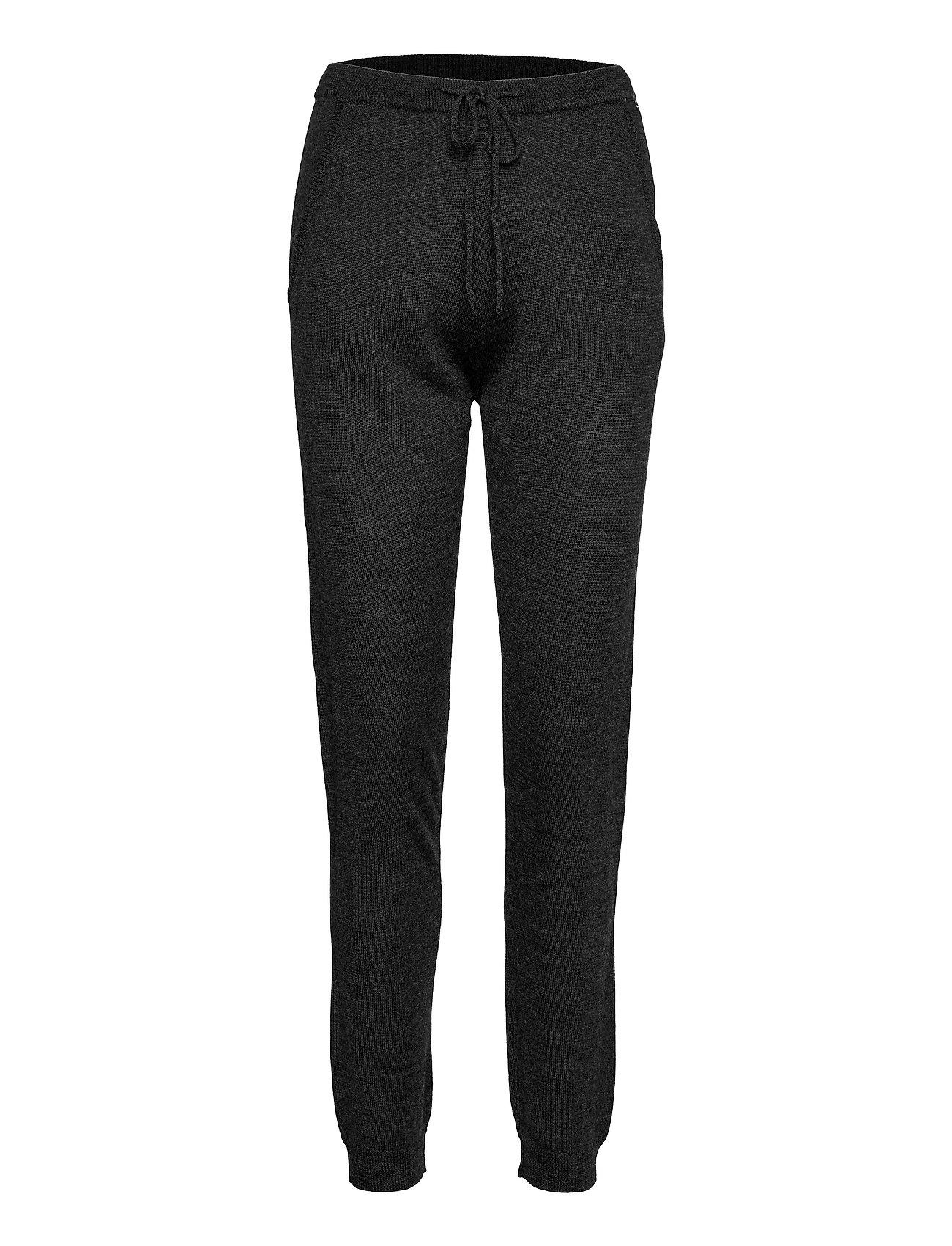 Merino Trousers Casual Bukser Grå Rosemunde