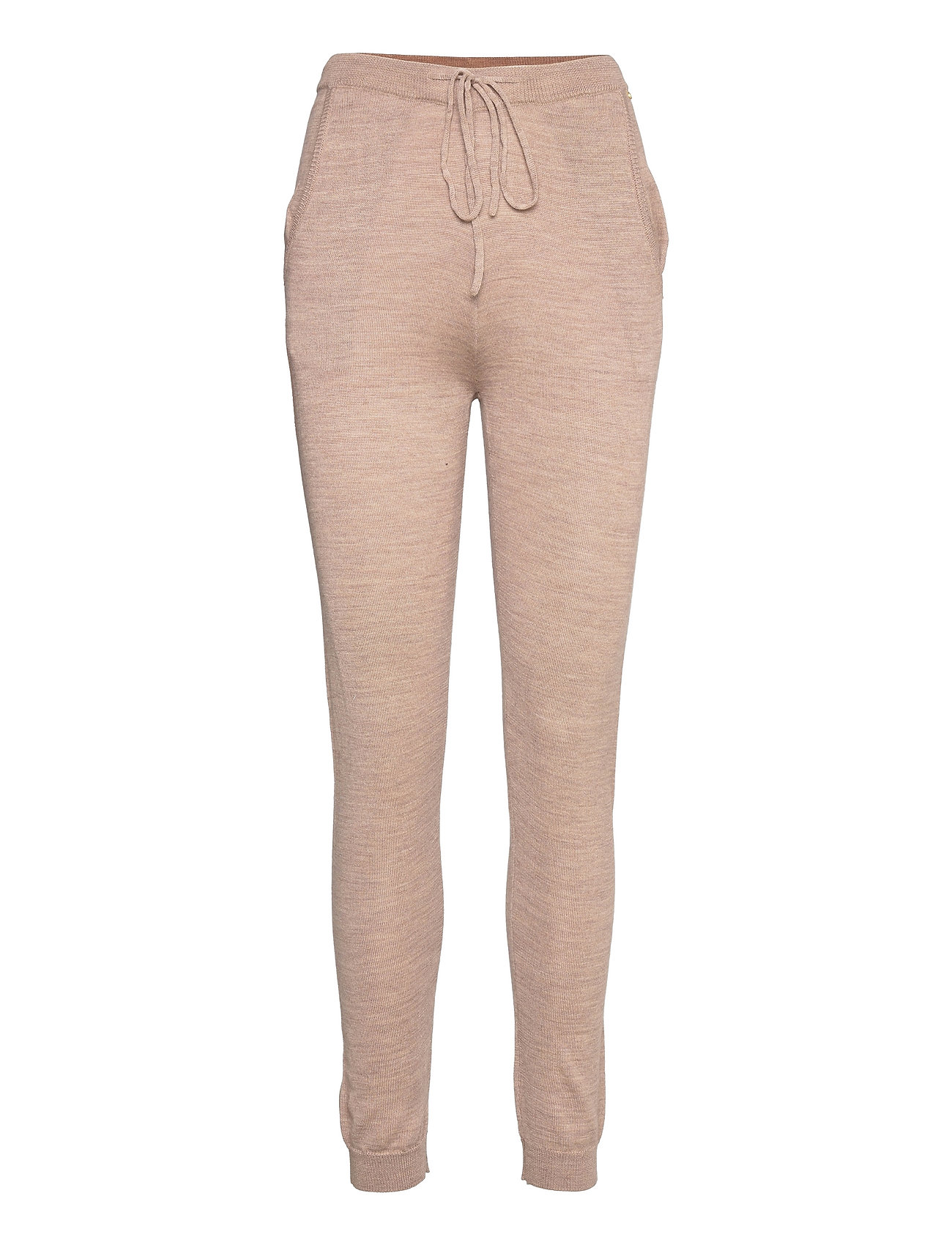 Merino Trousers Casual Bukser Beige Rosemunde